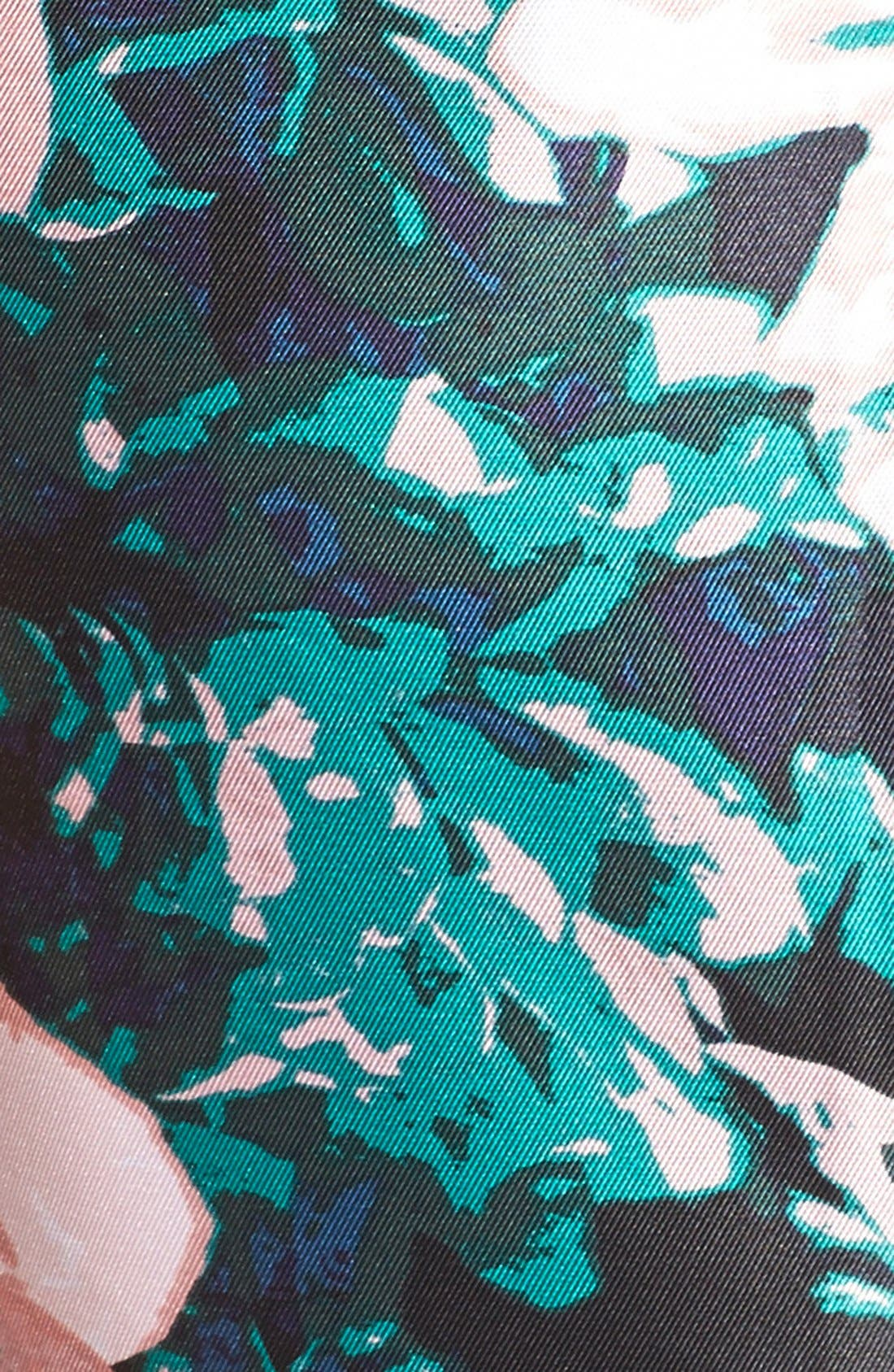 Alternate Image 4  - Adrianna Papell Floral Print Mikado Fit & Flare Dress