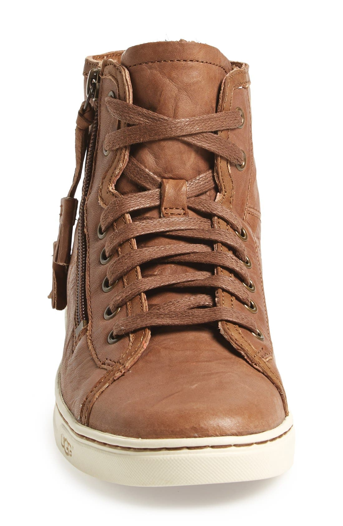 Alternate Image 3  - UGG® 'Blaney' Tasseled High Top Sneaker (Women)