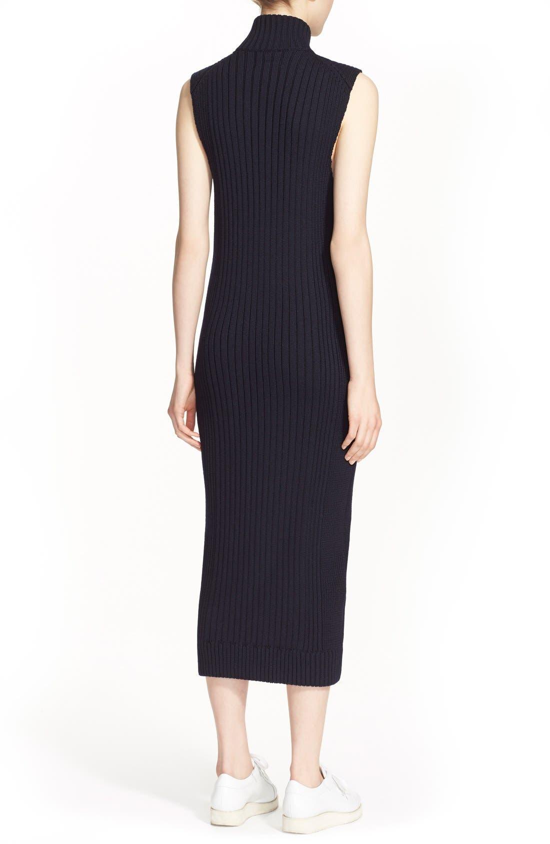 Alternate Image 2  - ACNE Studios 'Benita Clean' Zip Front Sweater Dress