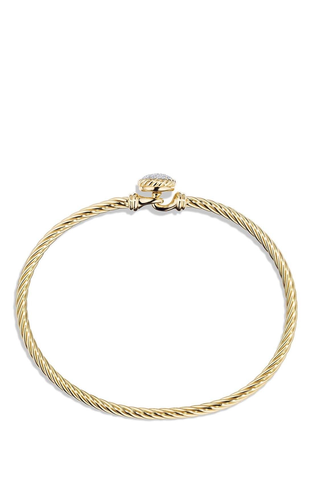 Alternate Image 2  - David Yurman 'Châtelaine' Bracelet with Diamonds in 18K Gold