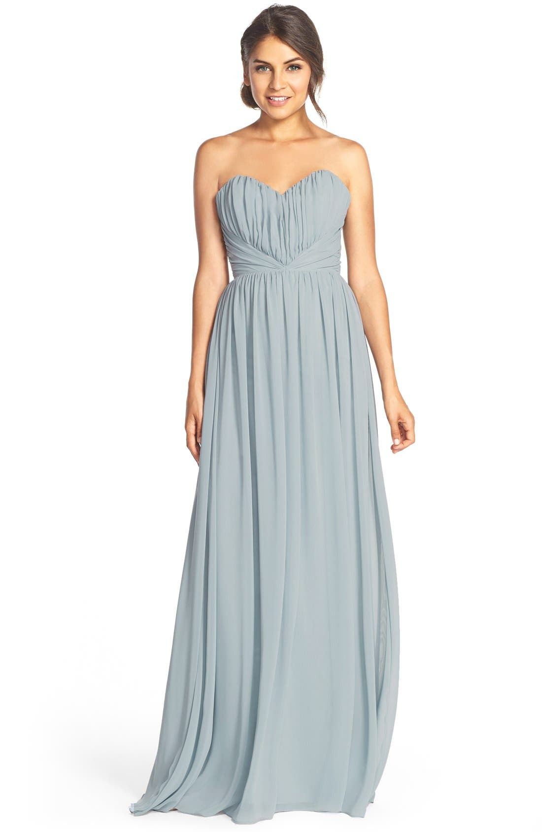Main Image - Jim Hjelm Occasions Strapless Chiffon Sweetheart A-Line Gown