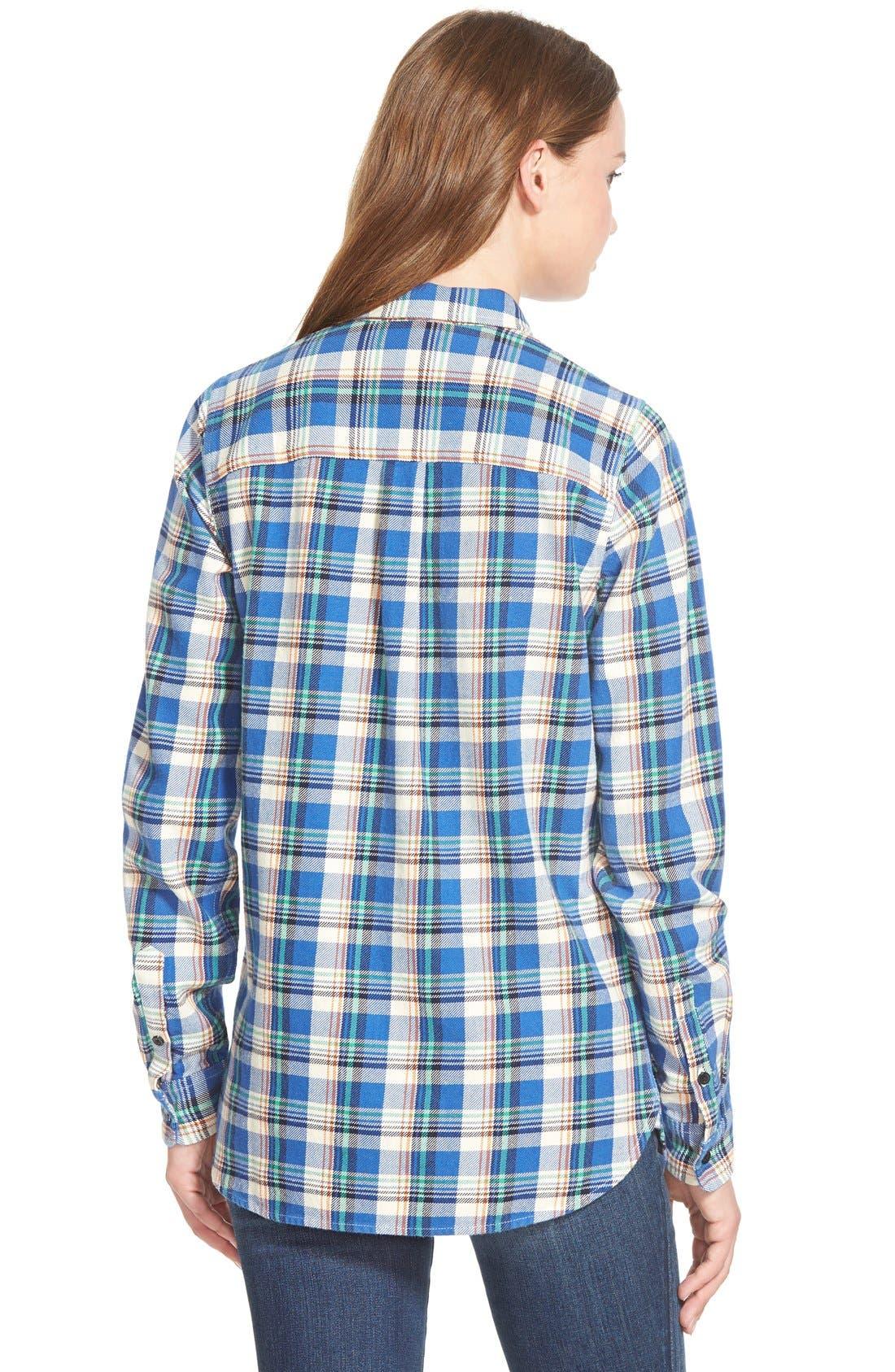 Alternate Image 3  - Madewell 'Tulsa Plaid' Slim Boyshirt