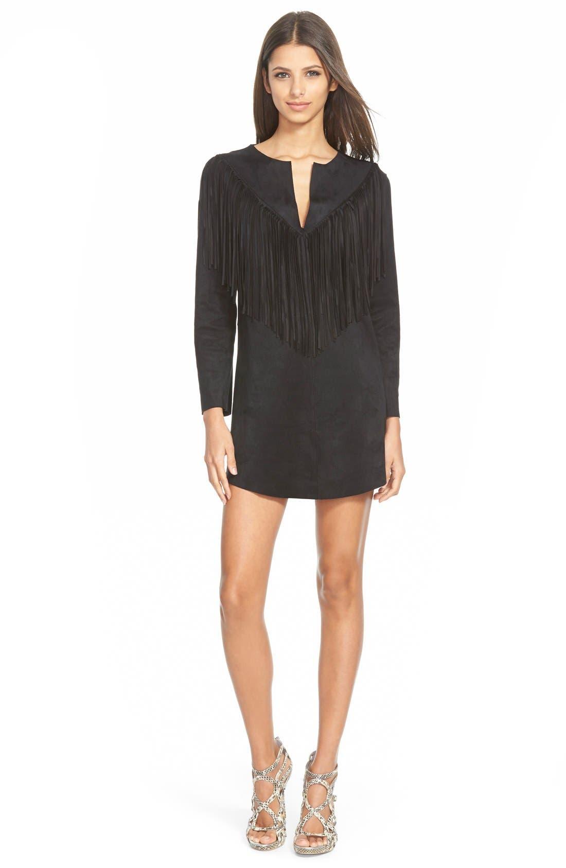 Main Image - Raga 'Rule Breaker' Faux Leather Shift Dress