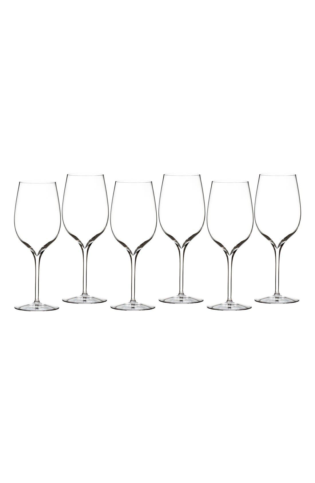 WATERFORD Elegance Set of 6 Fine Crystal Wine