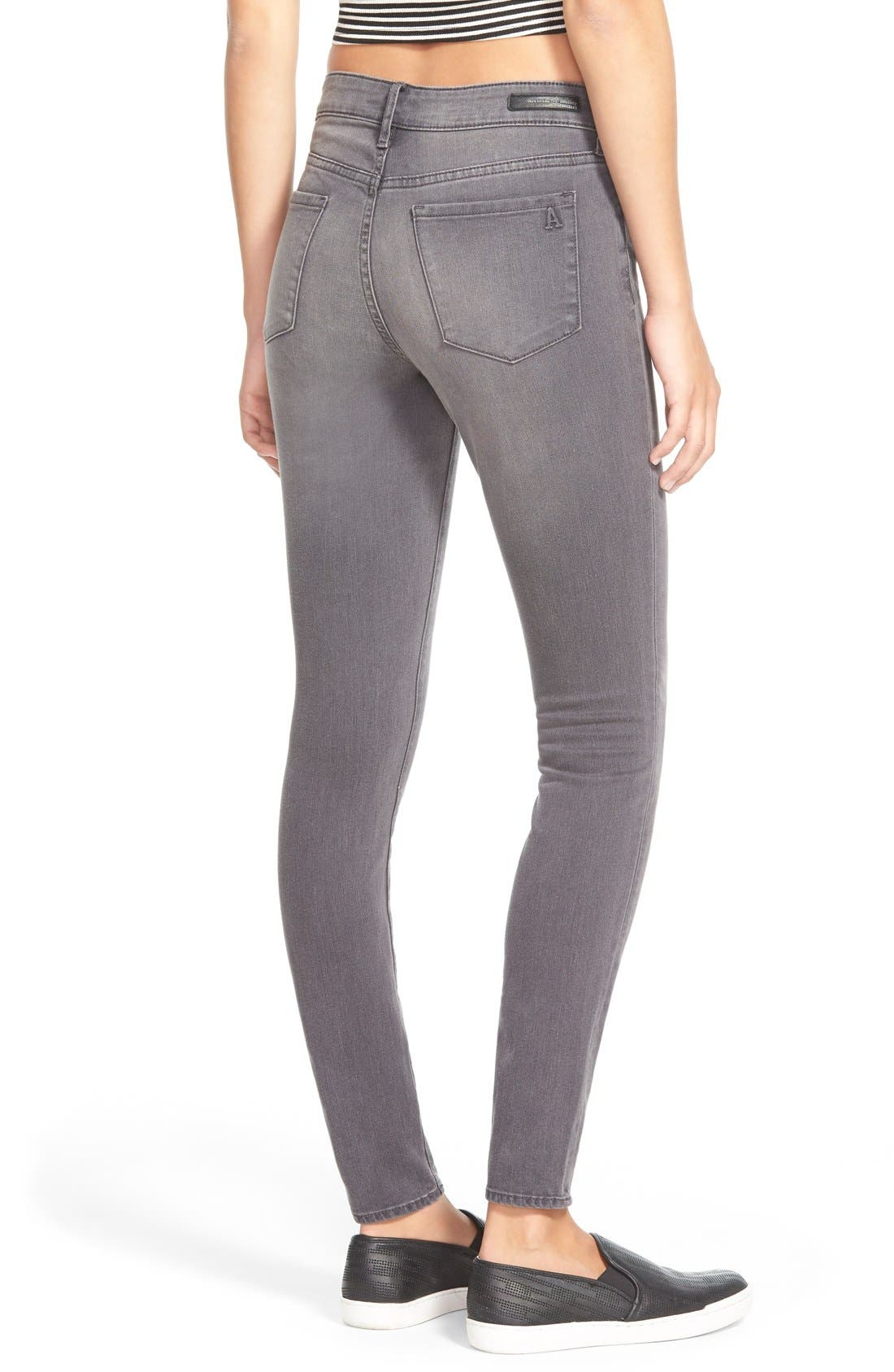 Alternate Image 2  - Articles of Society 'Sarah' Skinny Jeans (Greyhound)