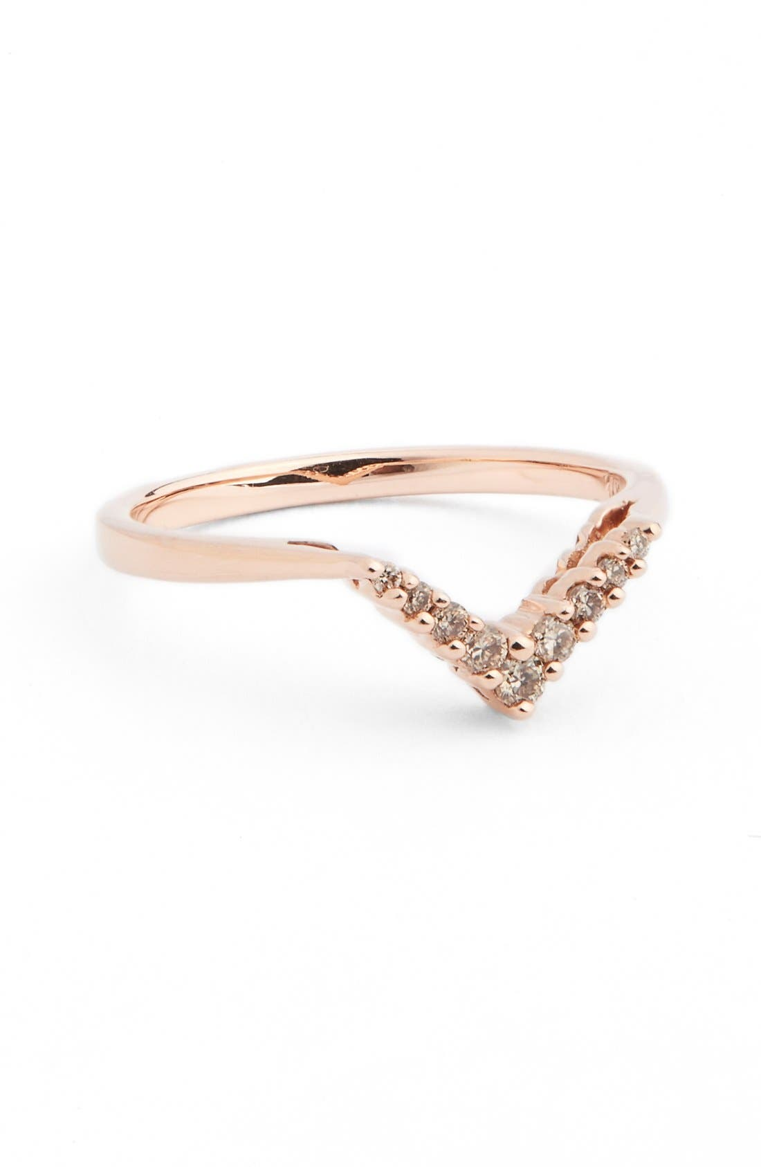 ANNA SHEFFIELD Champagne Diamond Petit Chevron Ring
