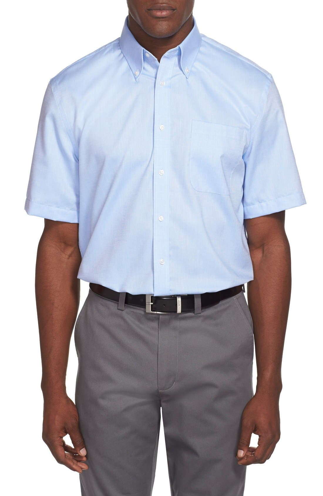 Alternate Image 2  - Nordstrom Men's Shop Traditional Fit Non-Iron Short Sleeve Dress Shirt (Online Only)