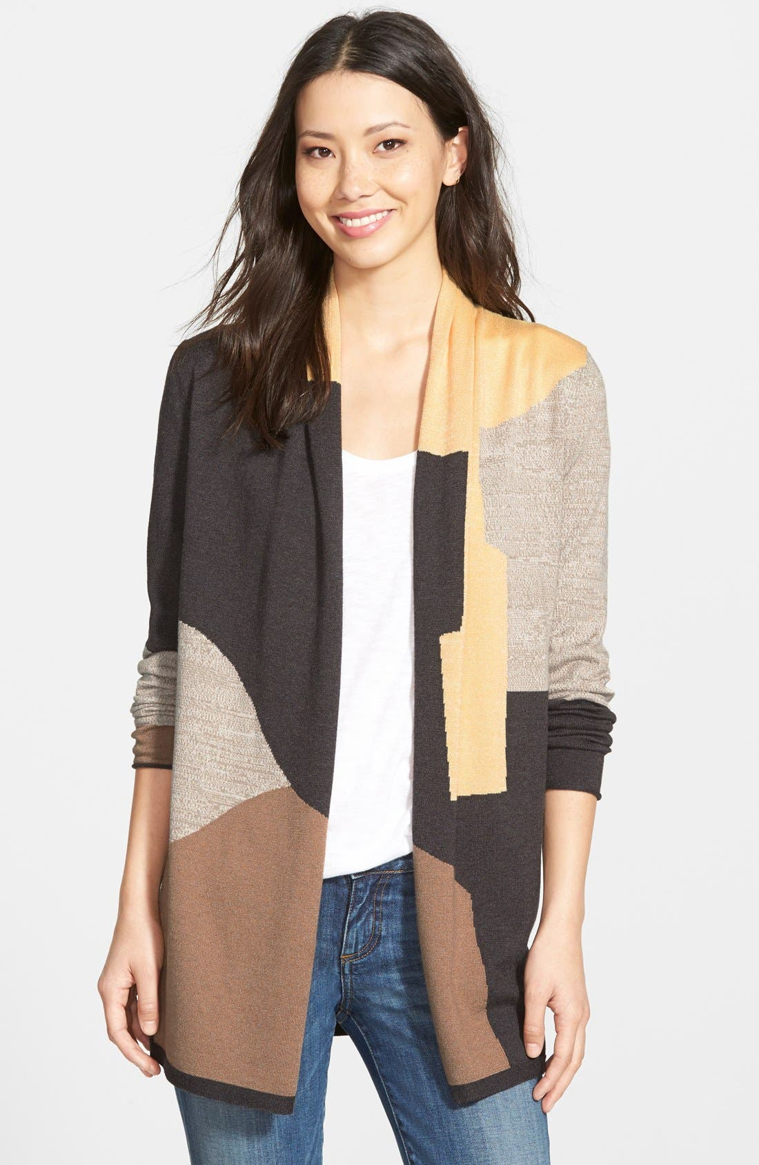 Alternate Image 1 Selected - NIC+ZOE 'Parker' Colorblock Cardigan (Regular & Petite)
