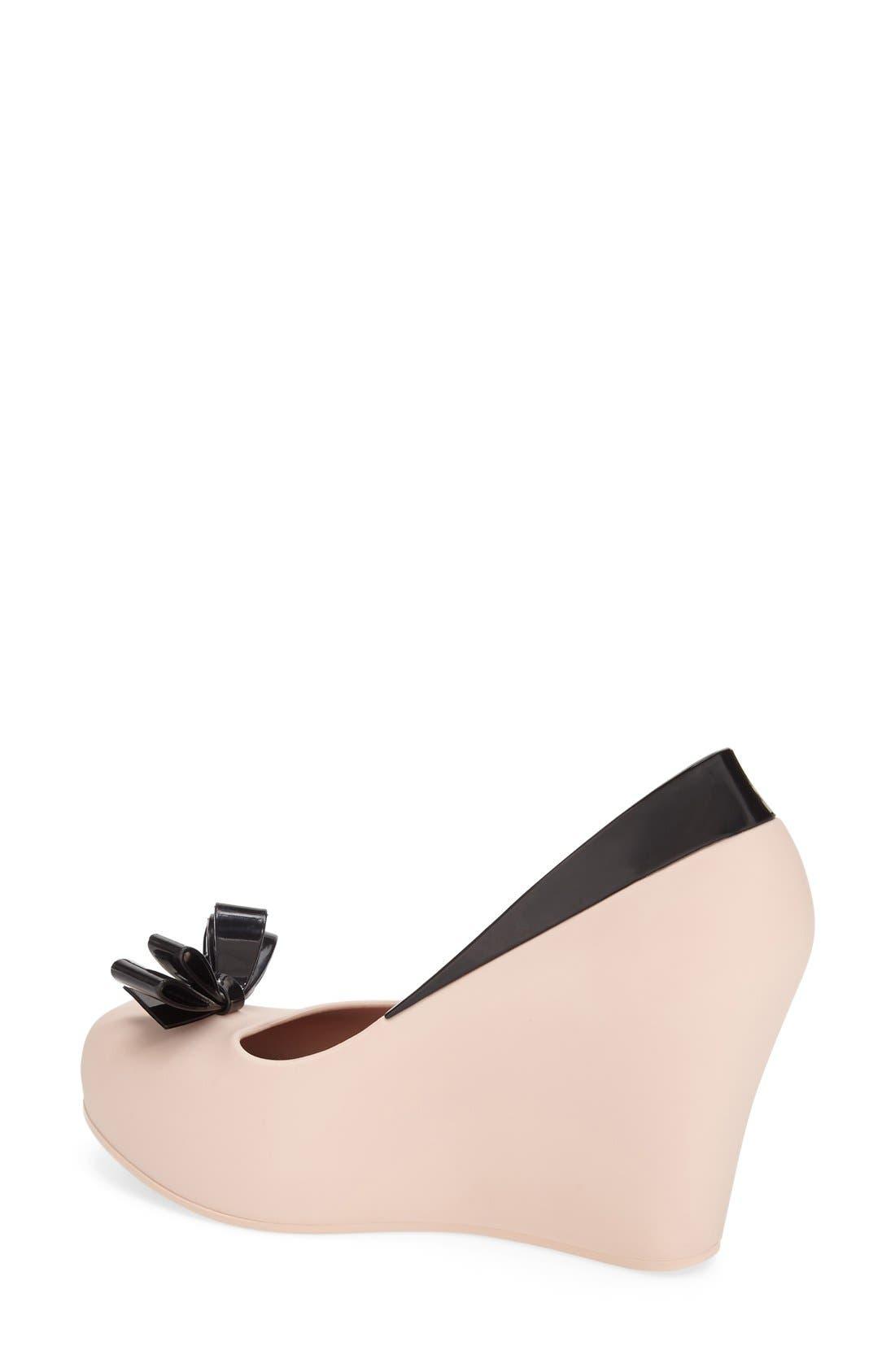 Alternate Image 2  - Melissa 'Queen' Peep Toe Wedge Pump (Women)