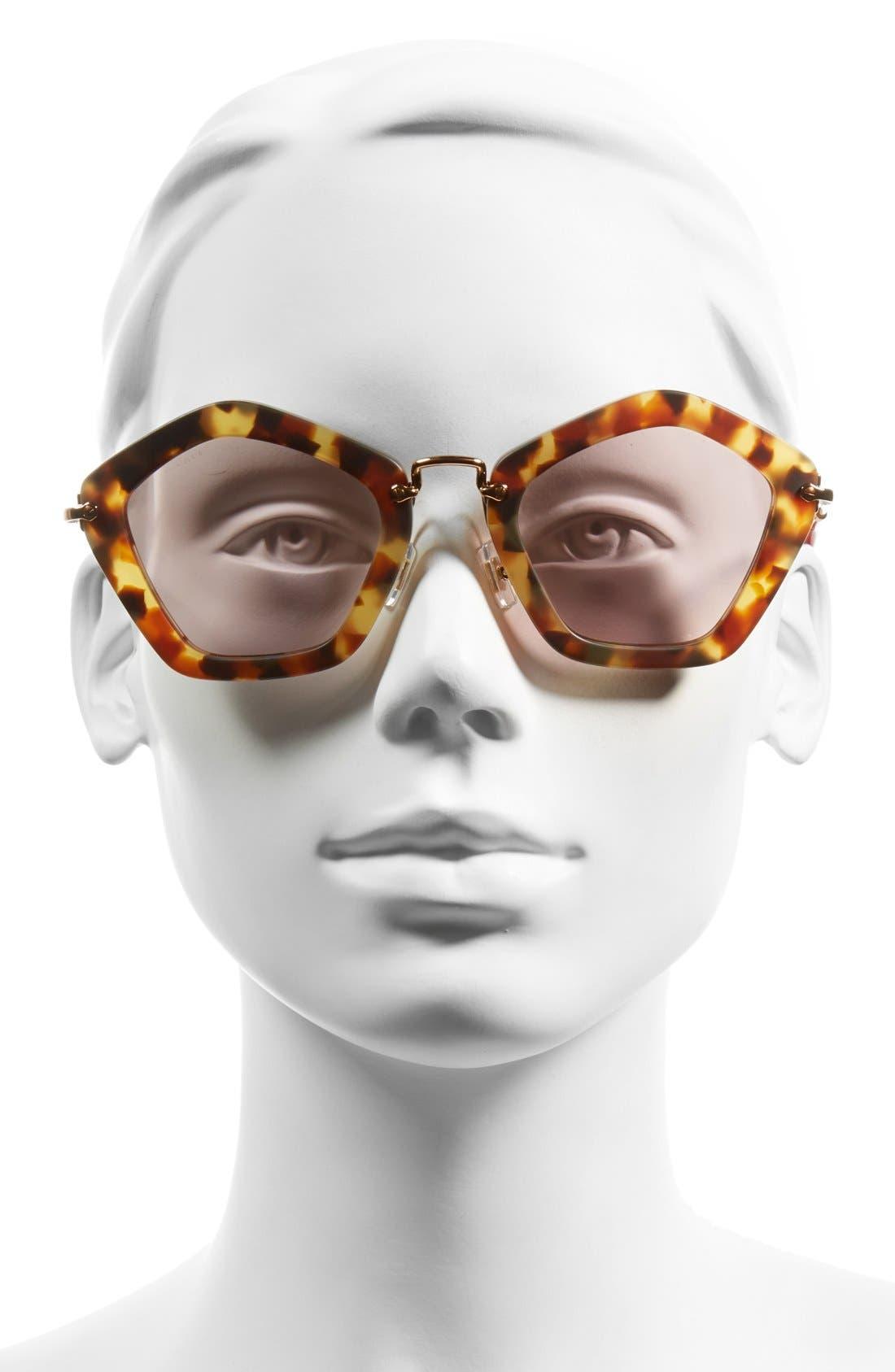 Alternate Image 2  - Miu Miu 'Noir' 53mm Sunglasses