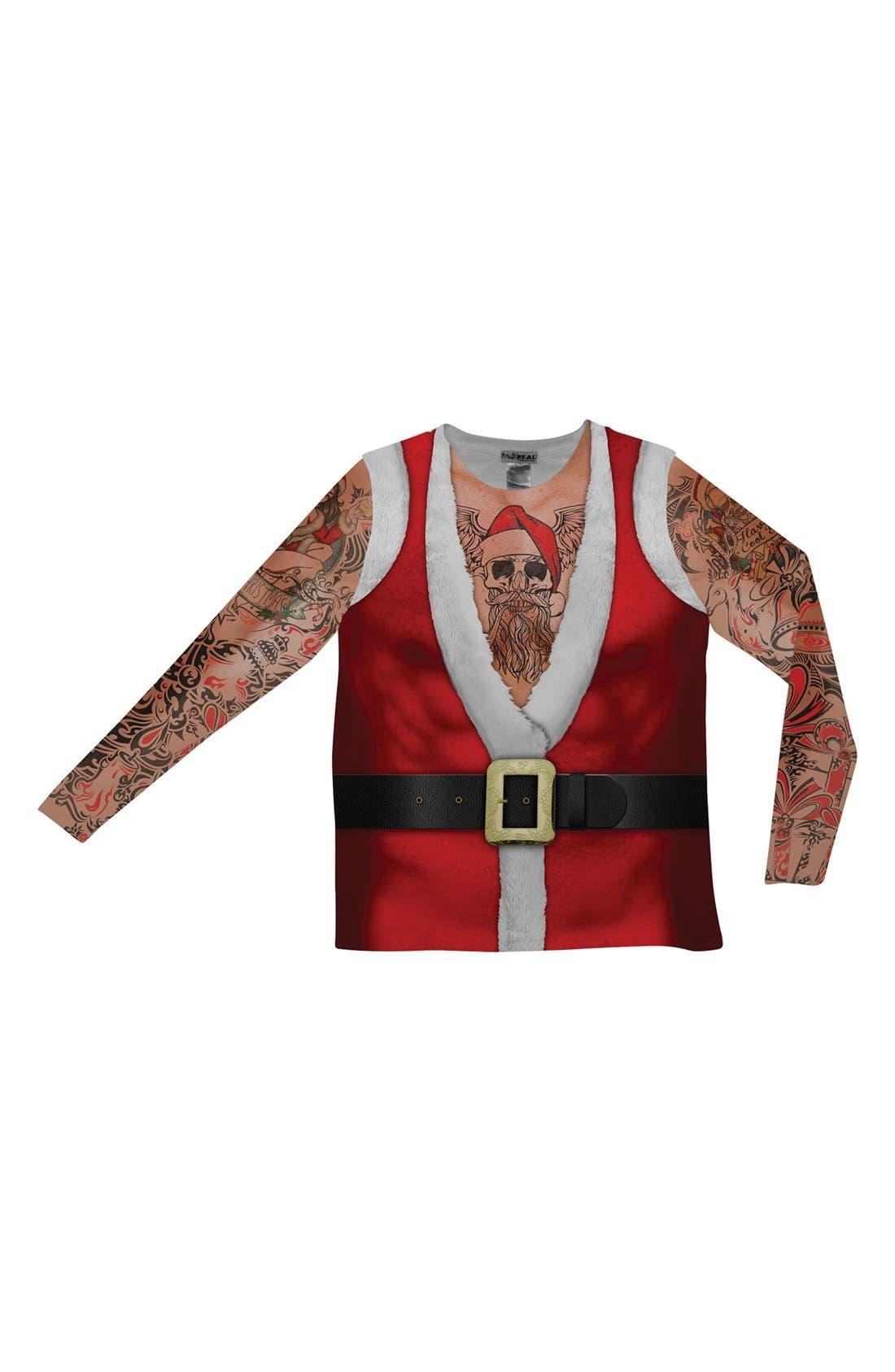Main Image - FauxReal 'Tattoo Santa' Novelty Graphic T-Shirt (Men)