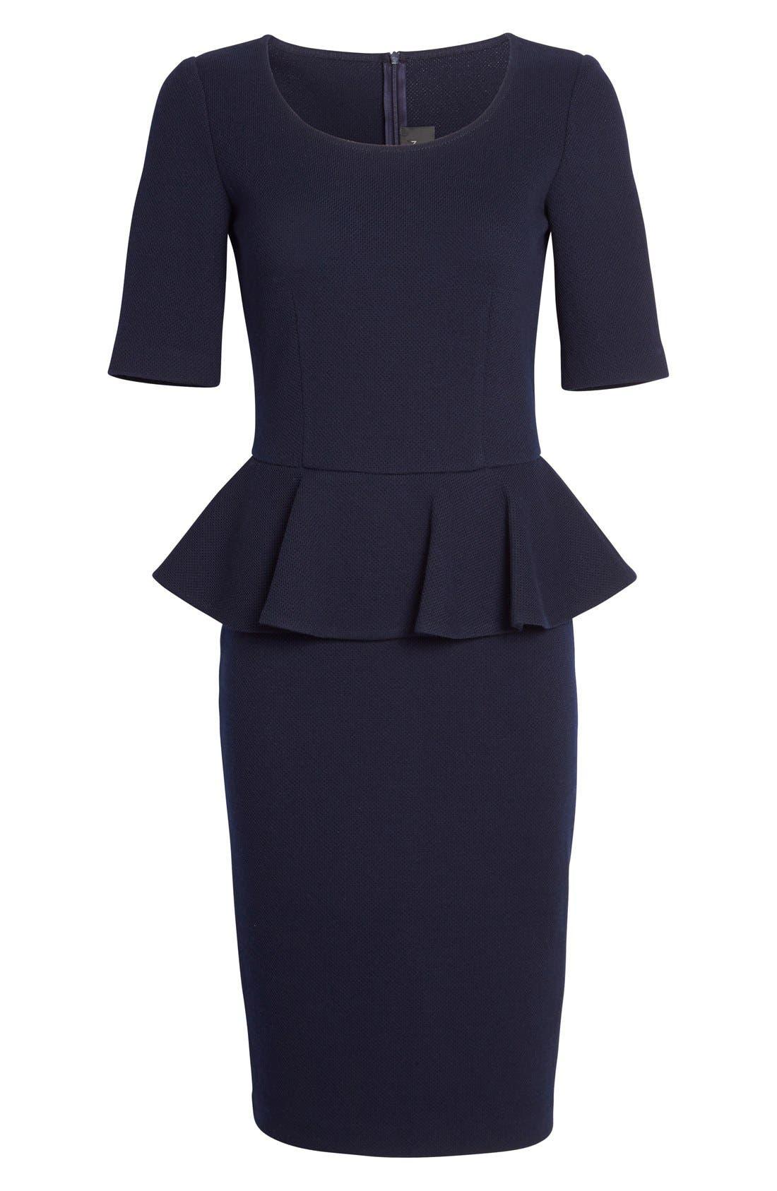 Alternate Image 4  - St. John Collection Peplum Milano Piqué Knit Dress