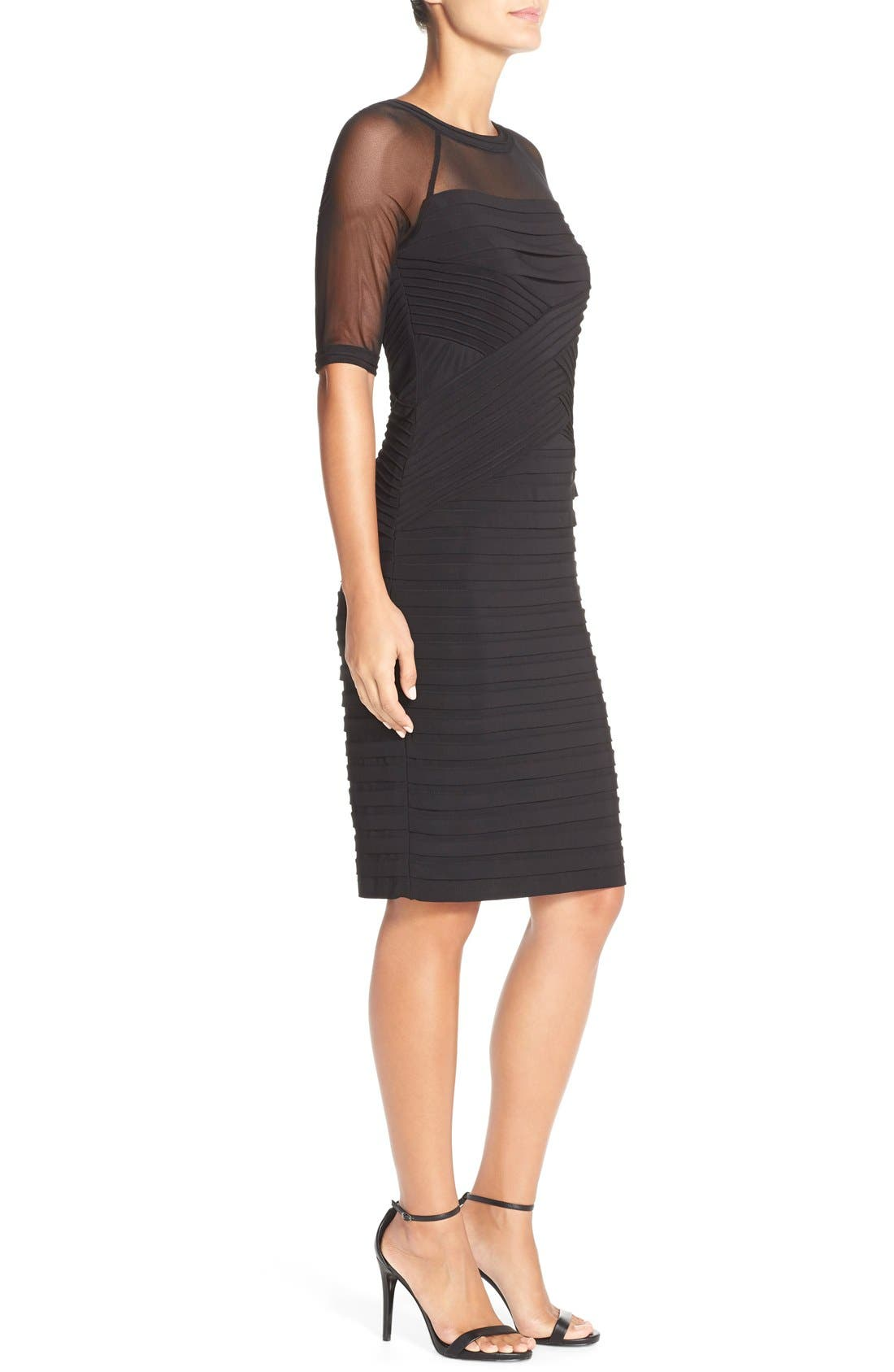 Alternate Image 4  - Adrianna PapellIllusion Pleated Jersey Shift Dress