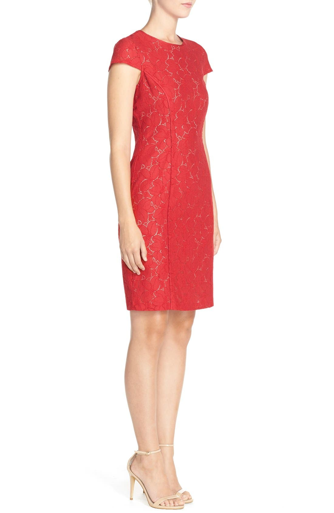 Alternate Image 4  - Marc New York Lace Sheath Dress