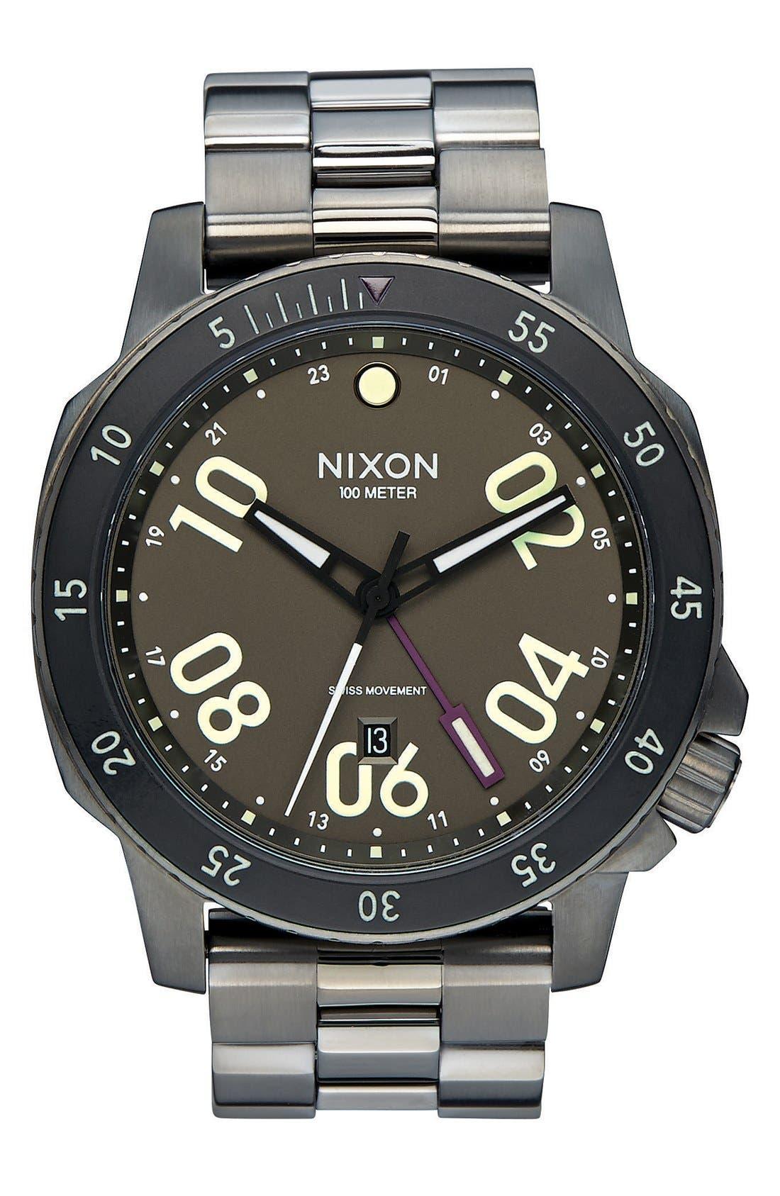 Nixon 'The Ranger GMT' Bracelet Watch, 44mm