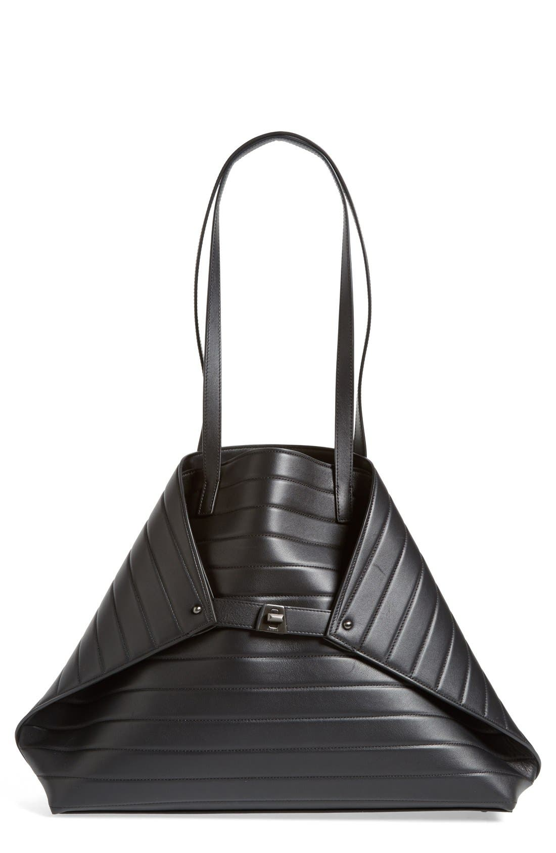 Main Image - Akris'Medium AI' Quilted Leather Shoulder Tote