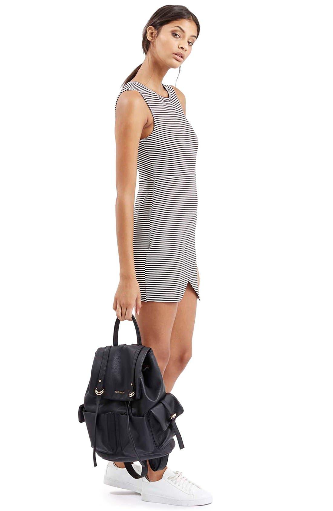 Alternate Image 2  - TopshopStripe Body-Con Dress