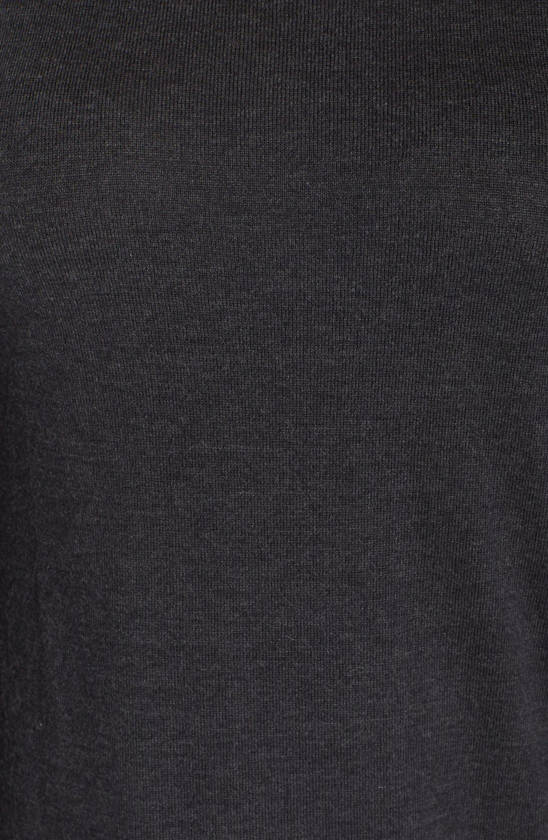 Alternate Image 6  - Eileen Fisher Merino Jersey Jewel Neck Dress (Plus Size)