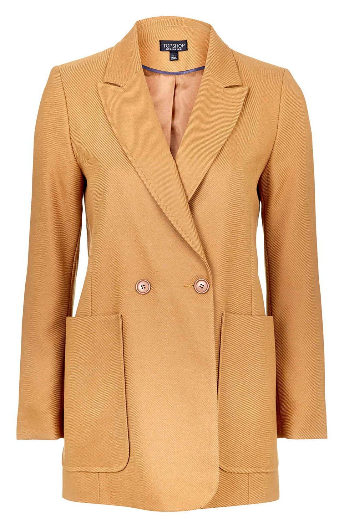 Alternate Image 4  - Topshop '70s Twill Longline Jacket