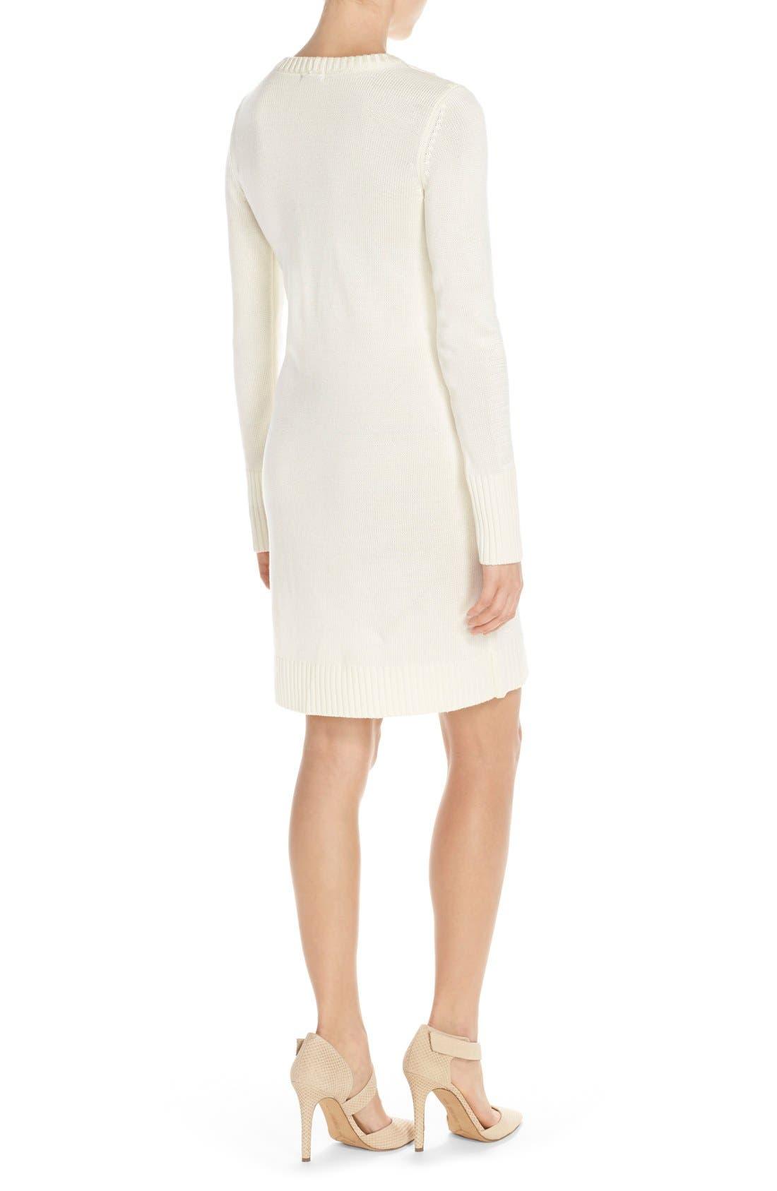 Alternate Image 2  - Eliza J NubbyKnit Shift Sweater Dress