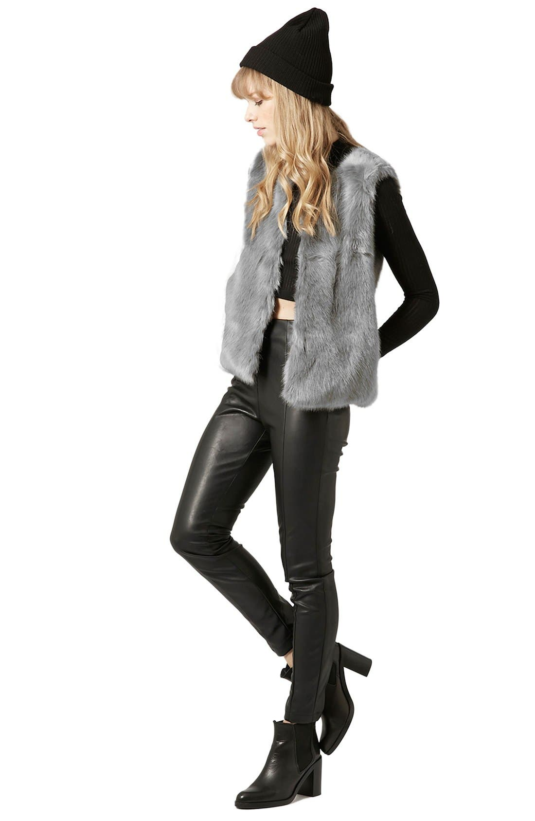 Alternate Image 2  - Topshop Faux Fur Gilet Vest