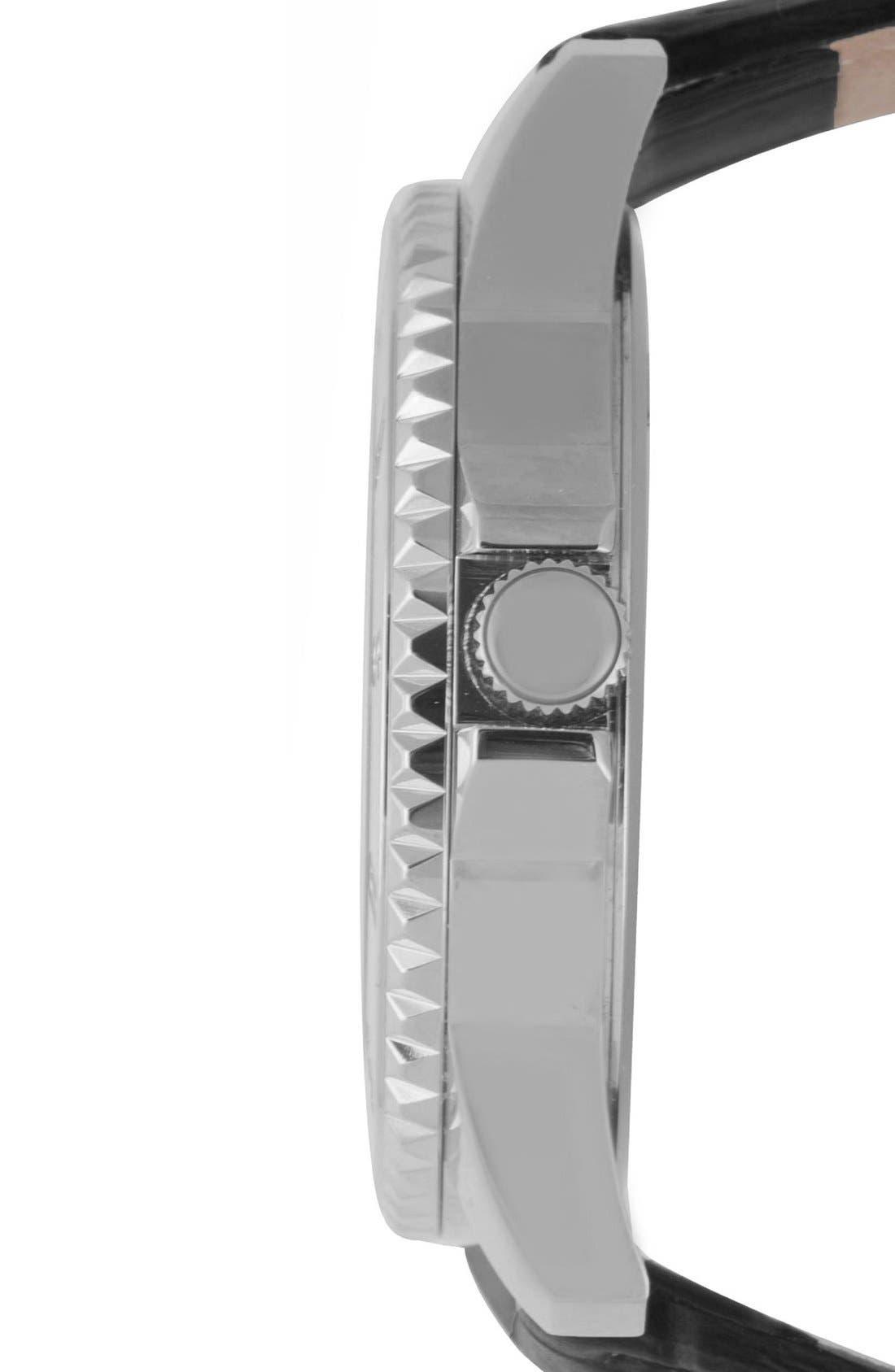 Alternate Image 3  - VERSUS by Versace'Tokyo' Leather Strap Watch, 38mm