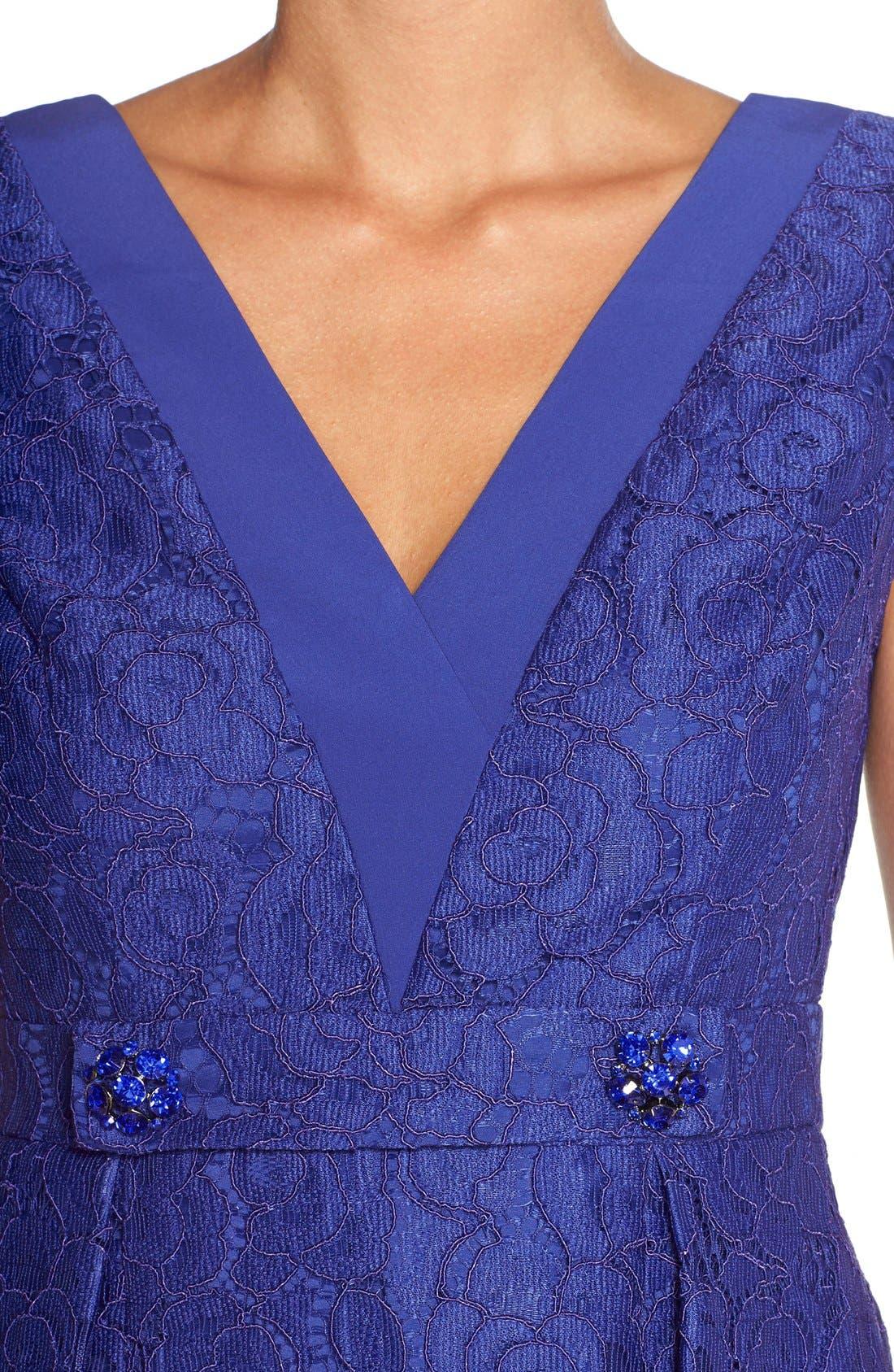 Alternate Image 5  - Adrianna PapellEmbellished Lace Fit & Flare Dress
