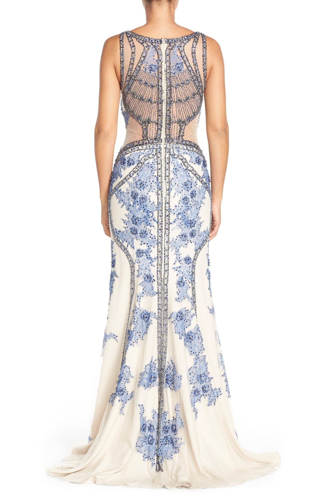 Alternate Image 2  - TeraniCouture Embellished Sleeveless Gown