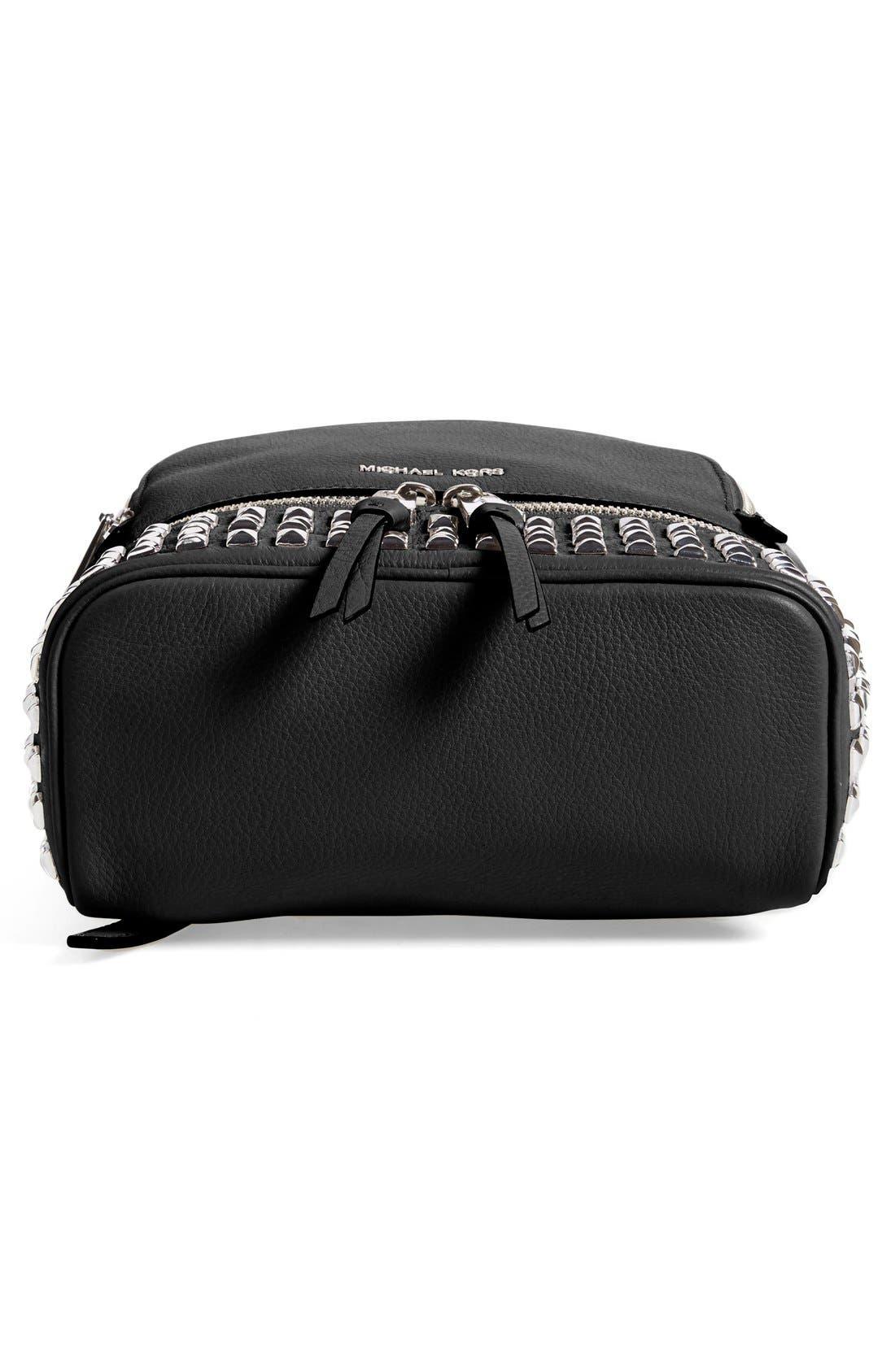 Alternate Image 6  - MICHAEL Michael Kors 'Small Rhea Zip' Studded Backpack