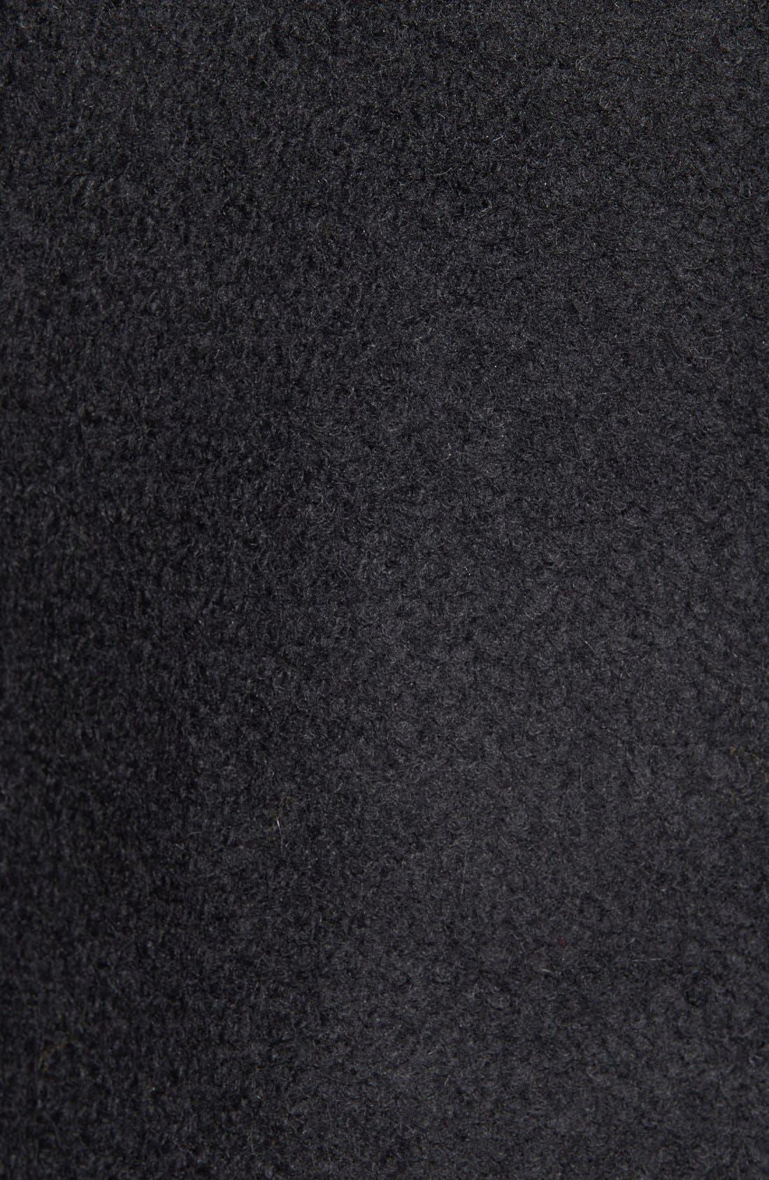 Alternate Image 5  - BadgleyMischka'Coco' Mixed Media Stand Collar Coat
