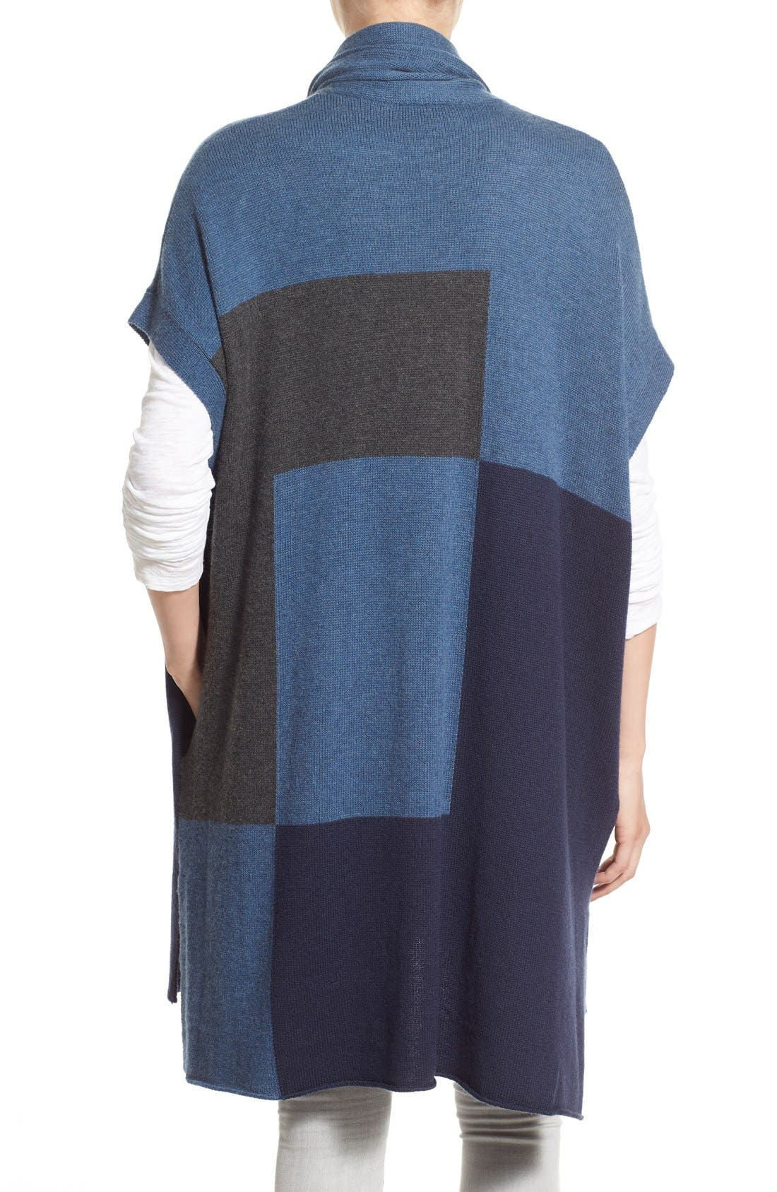 Alternate Image 2  - Paige Denim 'Ruth' Long Open Cardigan with Attached Scarf