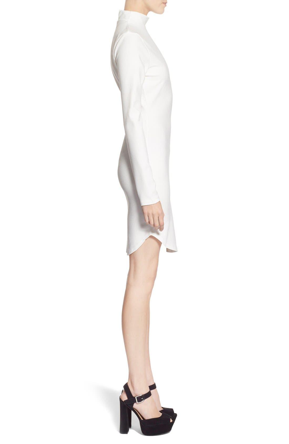 Alternate Image 3  - MissguidedMock NeckSheath Dress