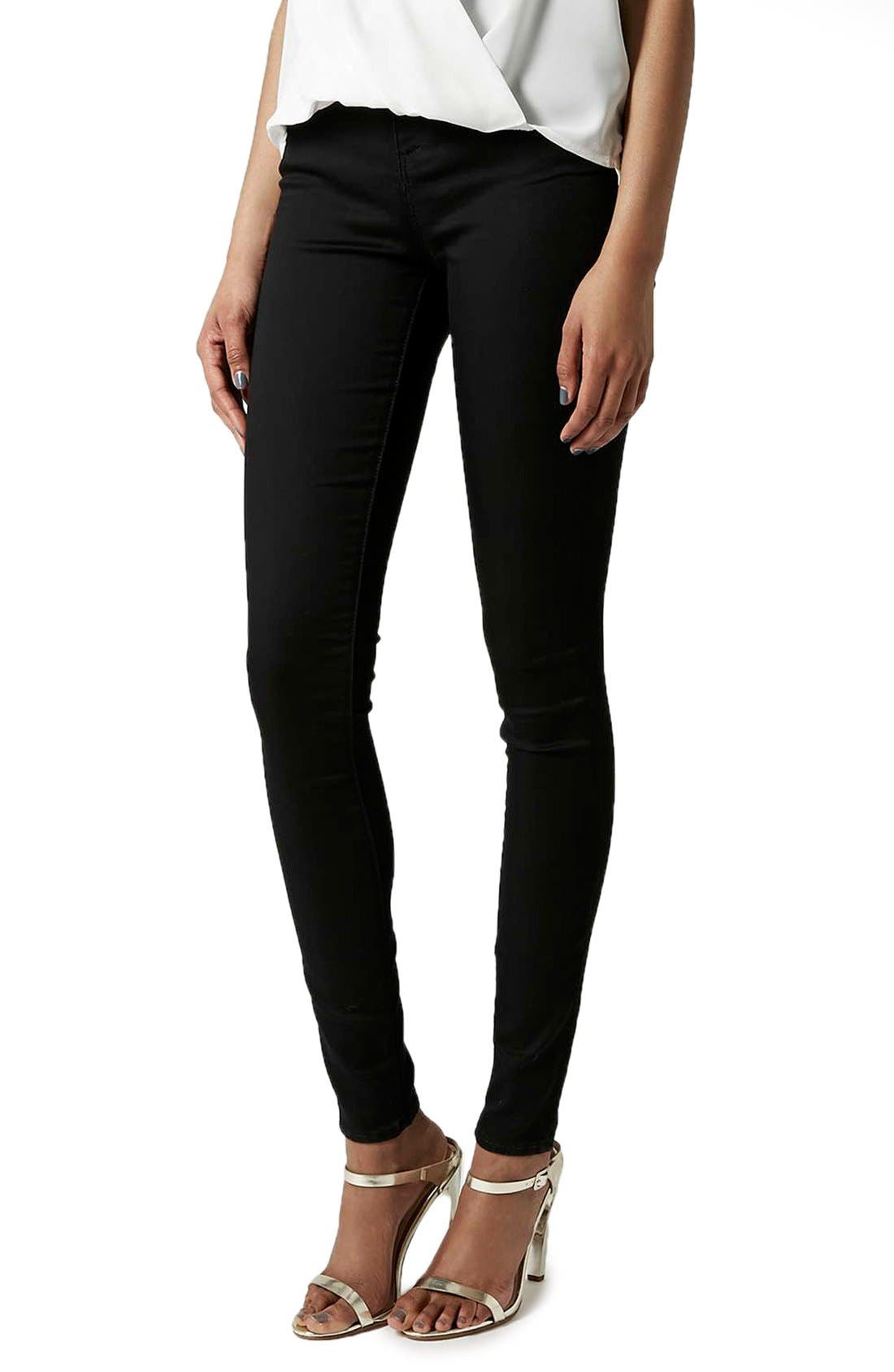 Alternate Image 1 Selected - Topshop 'Leigh' High Rise Skinny Jeans (Tall)