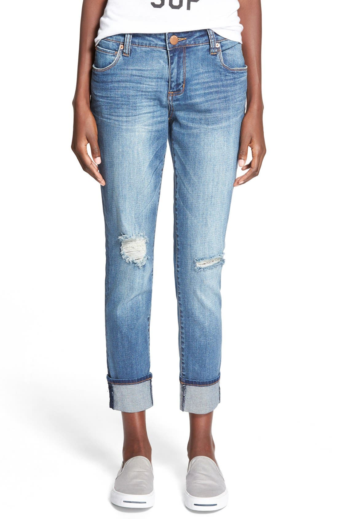 Main Image - STS Blue 'Tomboy' High Rise Boyfriend Jeans (Pismo Beach)