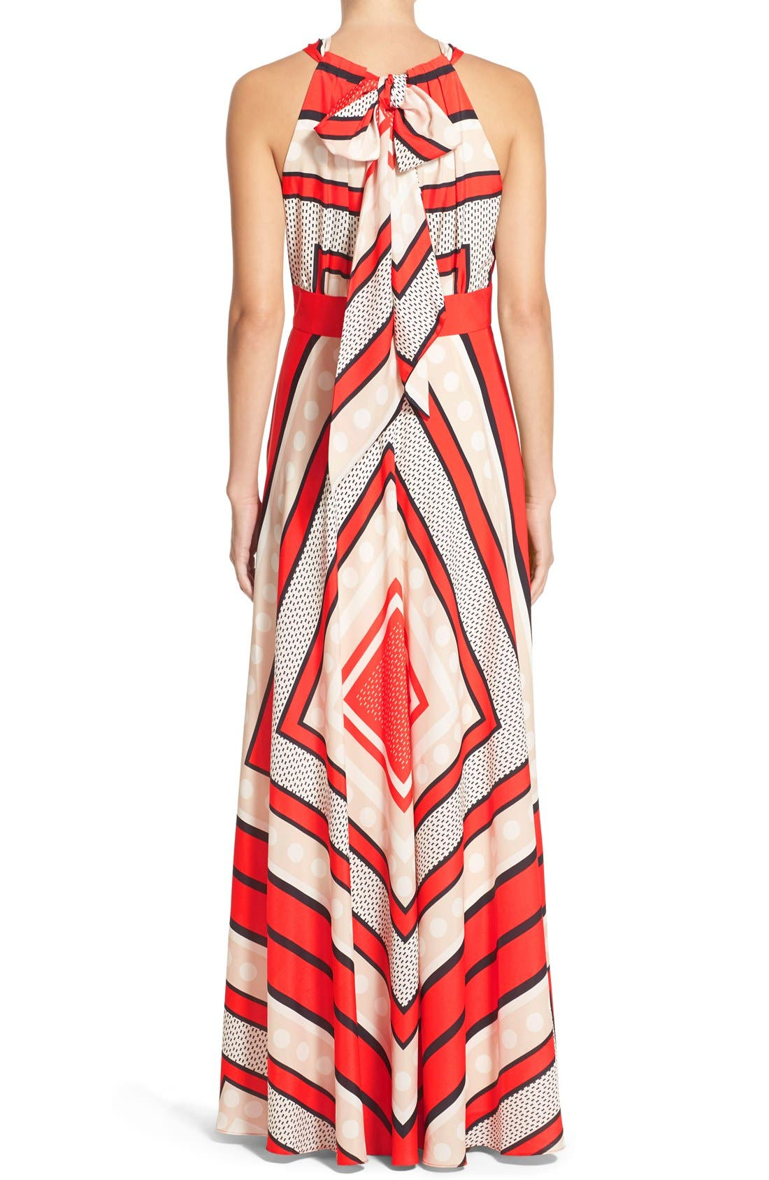 Alternate Image 2  - Eliza J Scarf Print Crêpe de Chine Fit & Flare Maxi Dress (Regular & Petite)