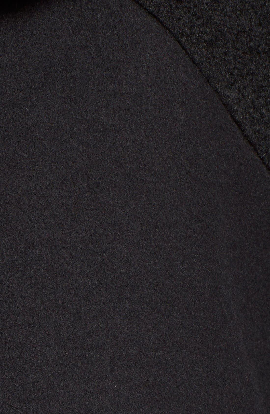 Alternate Image 5  - Dawn Levy 'Lara' Mixed Media Wool Blend Coat withFauxFur Hood