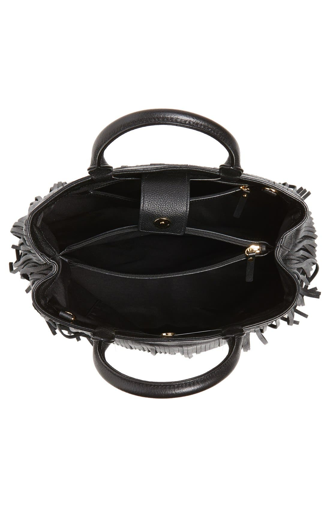 Alternate Image 4  - MillyFringed Leather Tote