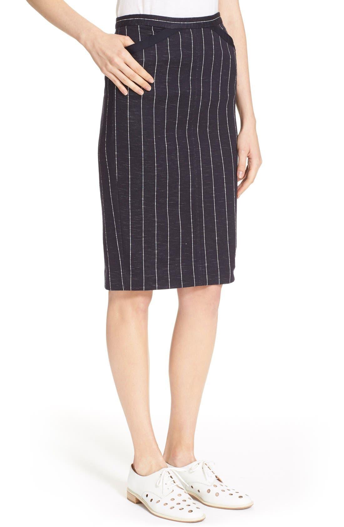 Alternate Image 4  - ATM Anthony Thomas Melillo Stripe Pencil Skirt