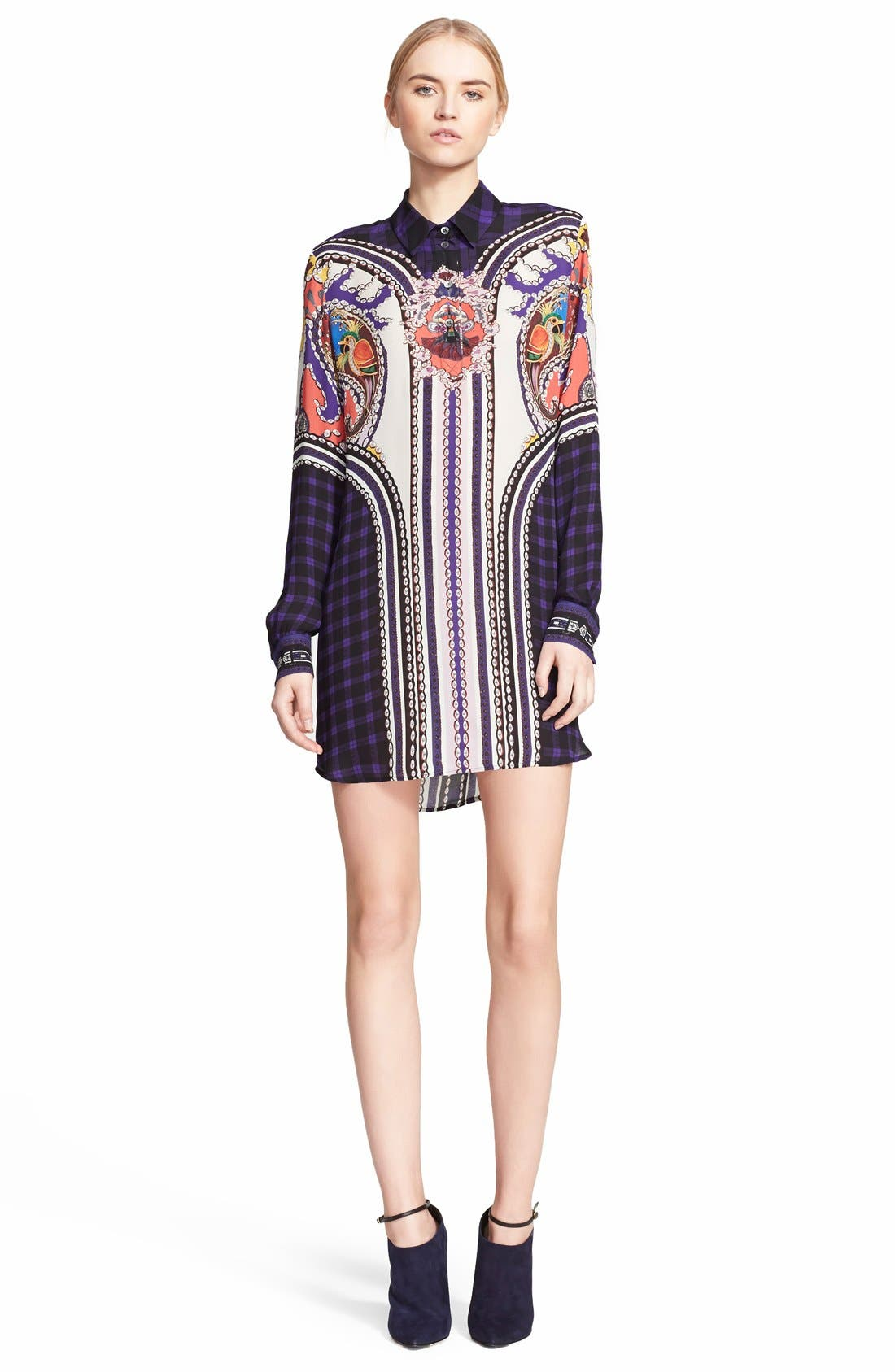 Alternate Image 1 Selected - Mary Katrantzou 'Croft' Silk Georgette Shirtdress