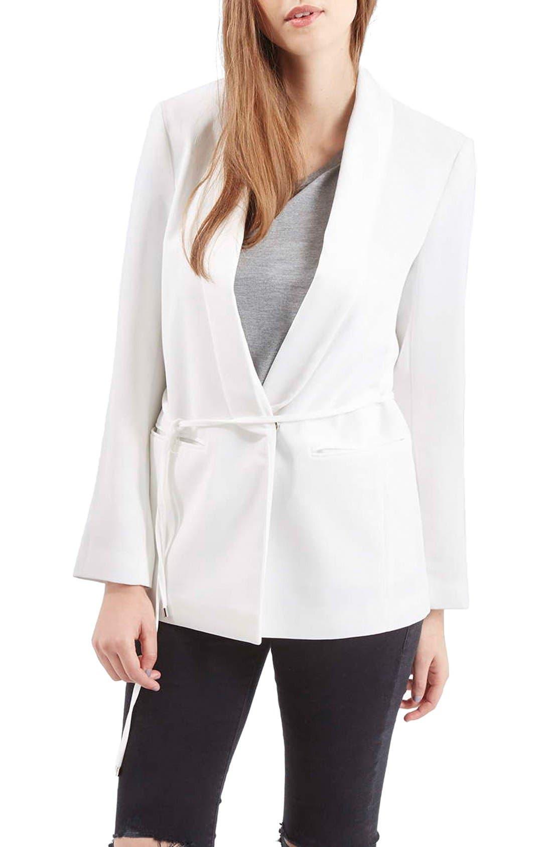Alternate Image 1 Selected - Topshop Belted Tuxedo Jacket