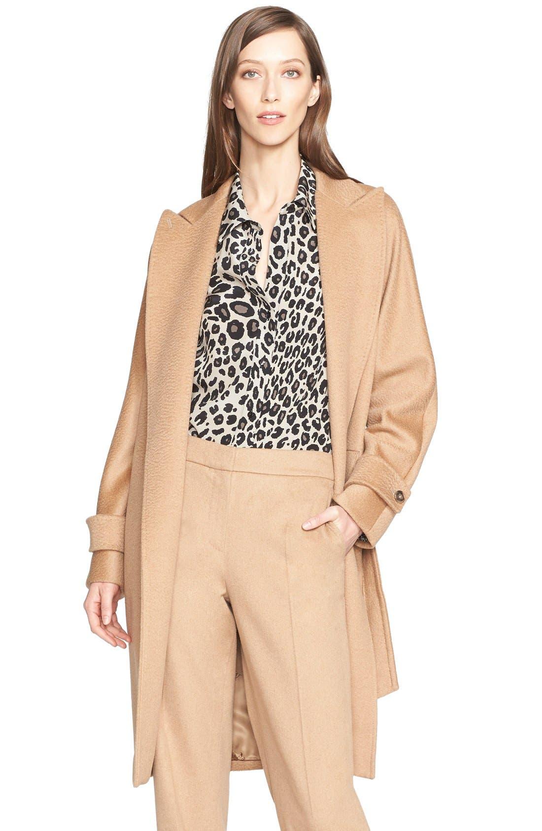 Alternate Image 1 Selected - Max Mara 'Megaton' Camel Hair Wrap Coat