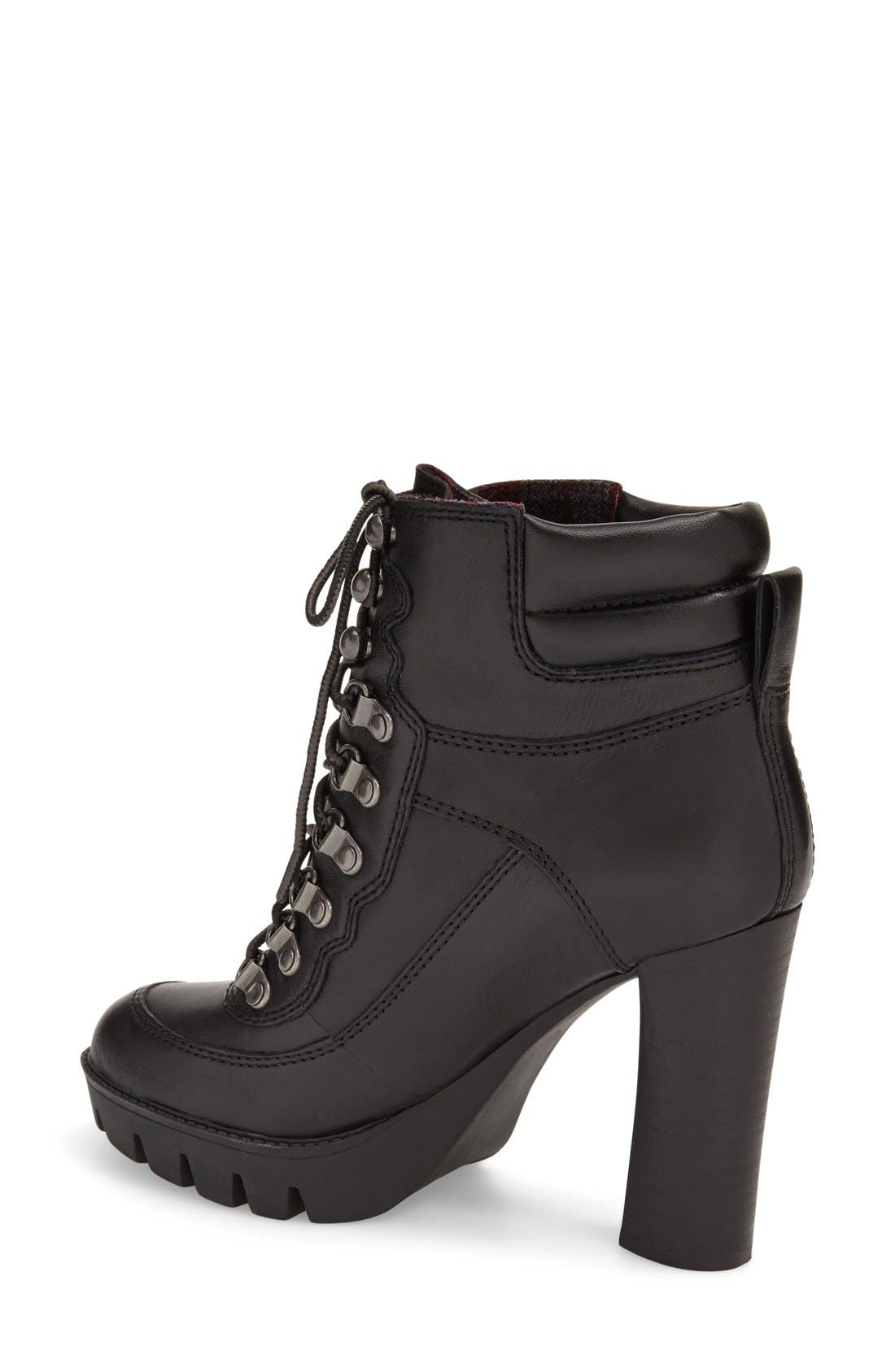 Alternate Image 2  - Nine West 'Abrial' Lace-Up Bootie (Women)