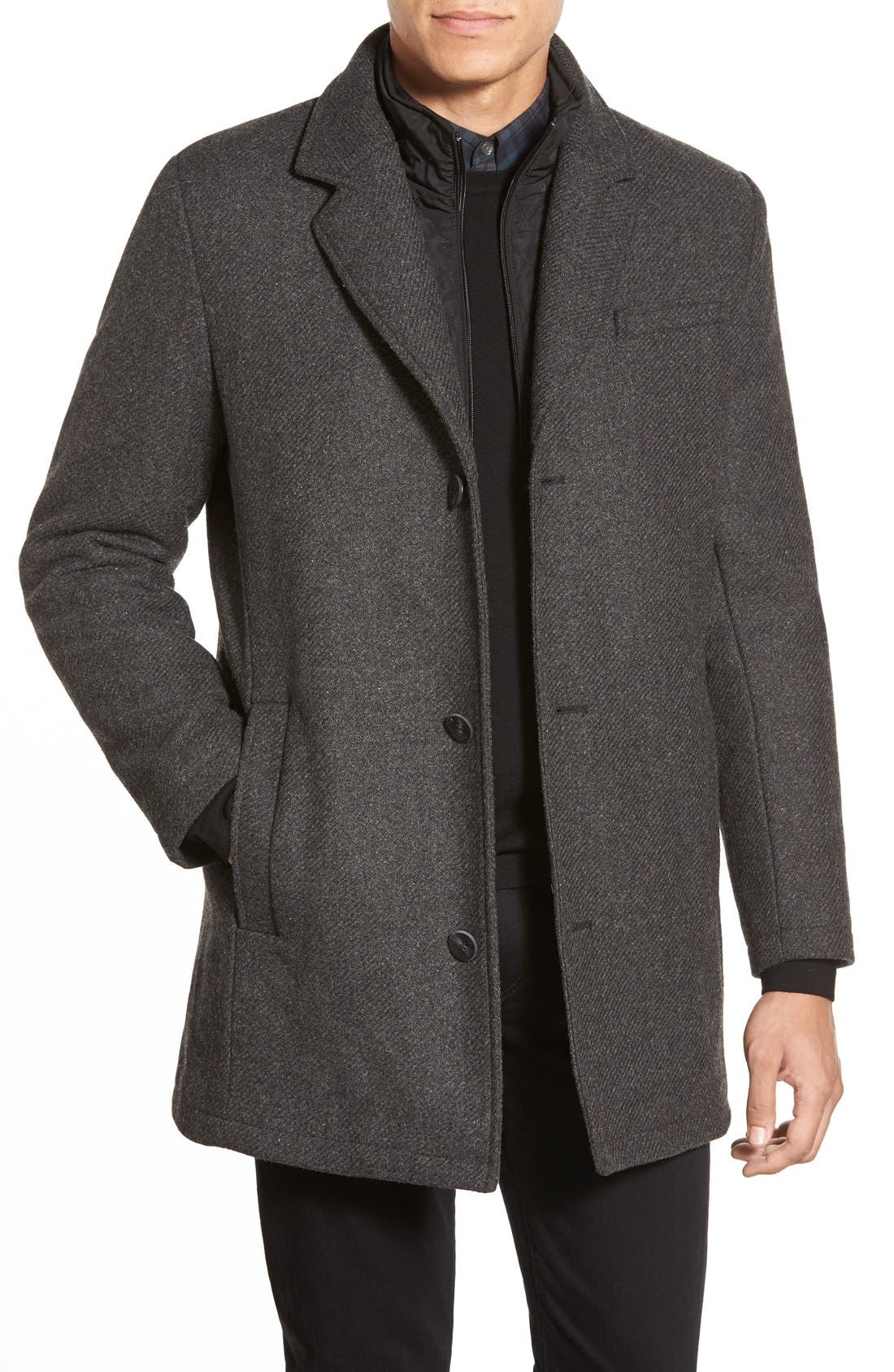 Alternate Image 1 Selected - Vince Camuto Car Coat with Removable Bib