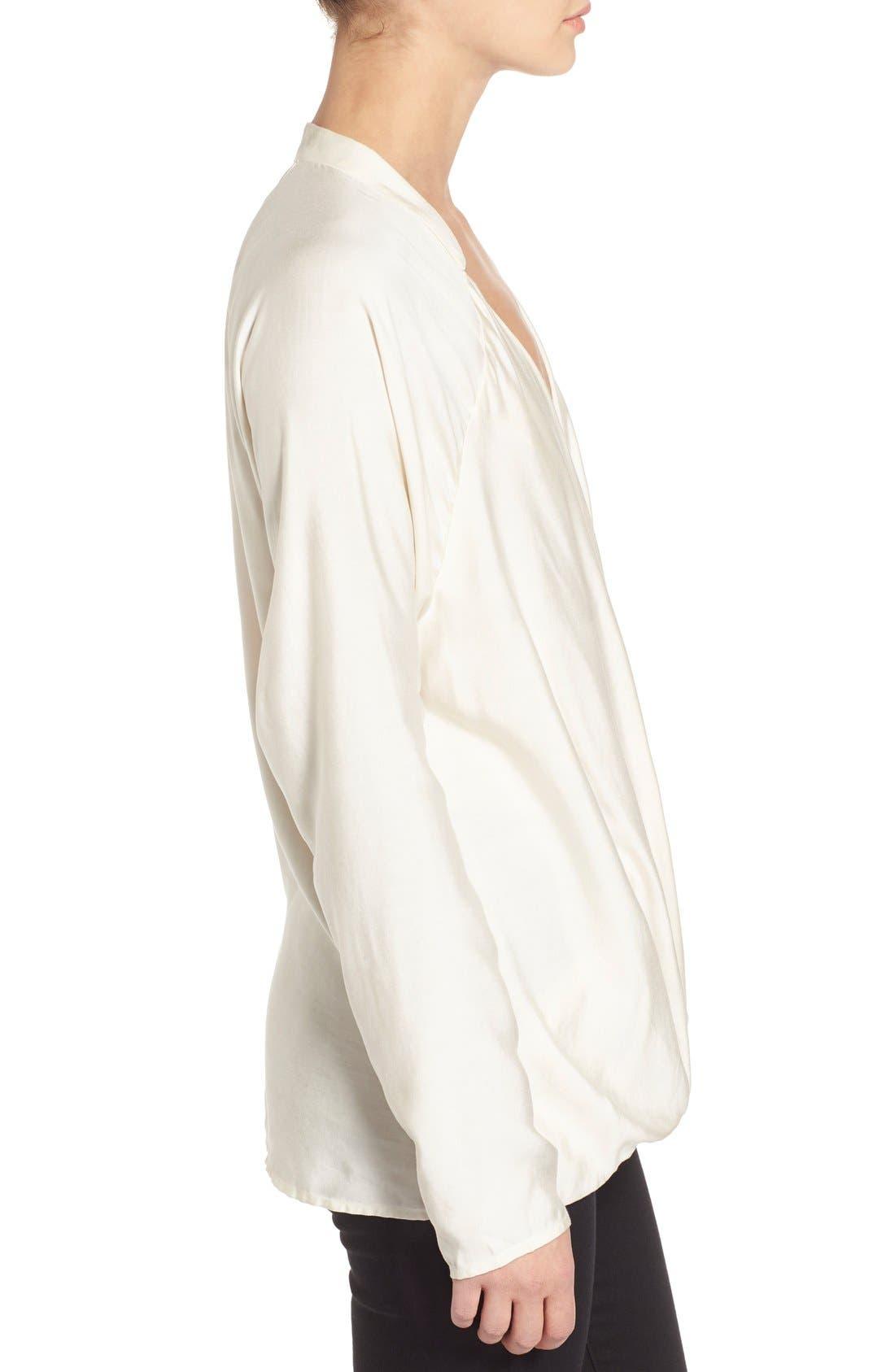 Alternate Image 3  - James Perse Long Sleeve Wrap Raglan Top