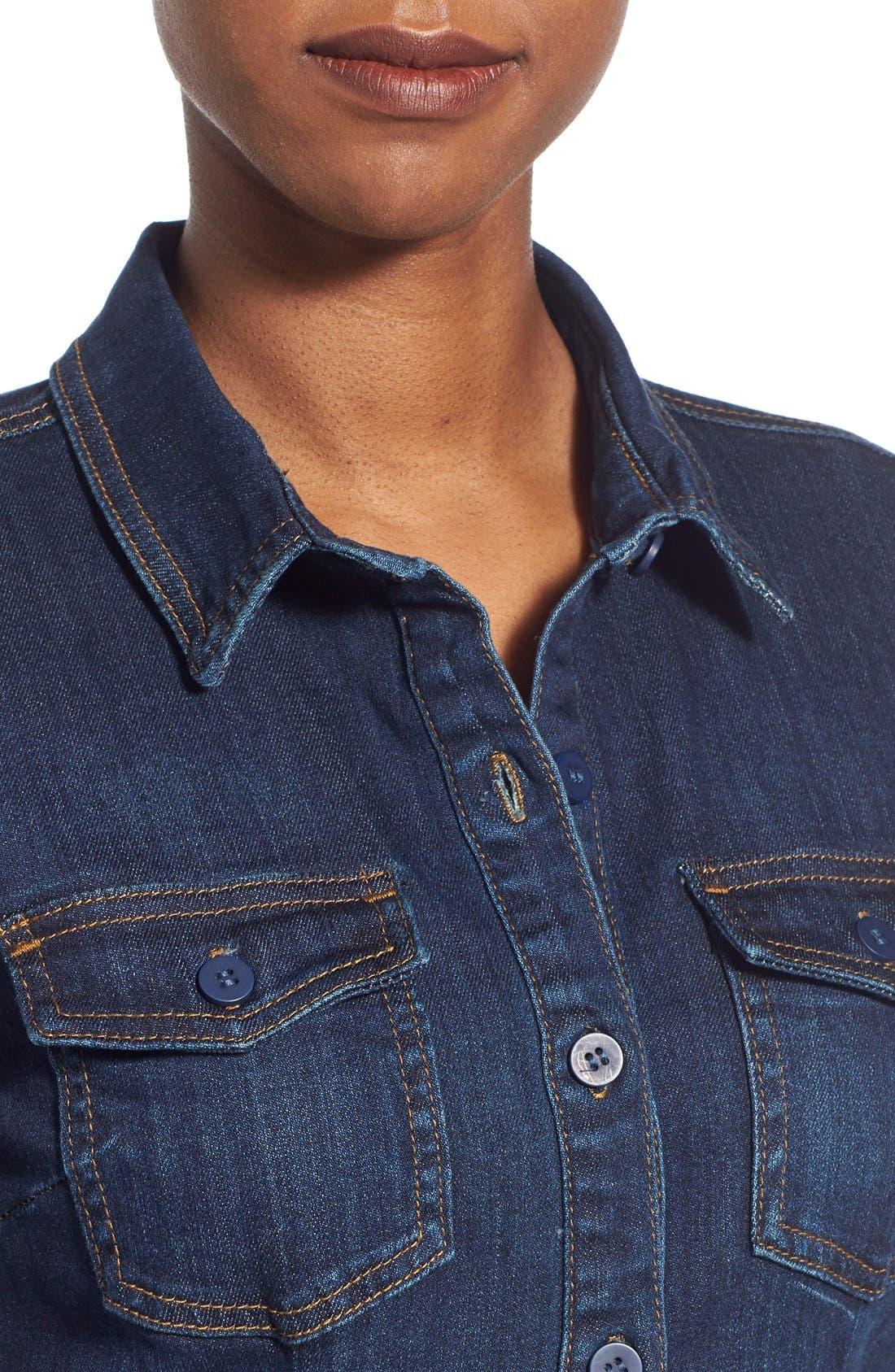 Alternate Image 4  - KUT from the Kloth 'Blake' Denim Shirt Dress