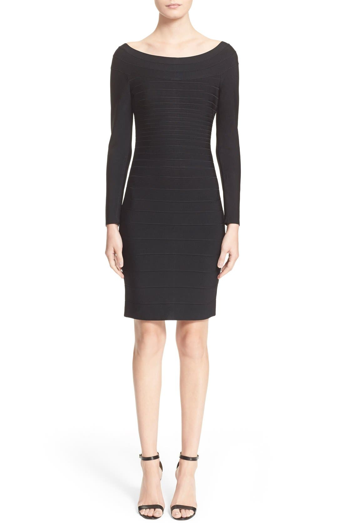 Alternate Image 1  - Herve Leger Off Shoulder Bandage Dress