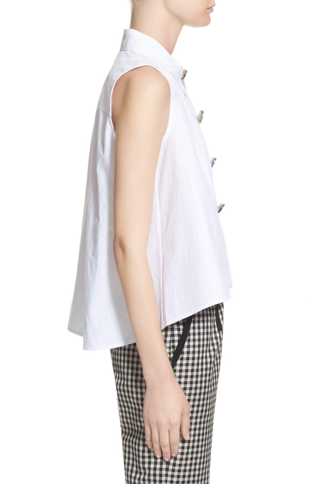 Alternate Image 5  - Isa Arfen Sleeveless A-Line Shirt