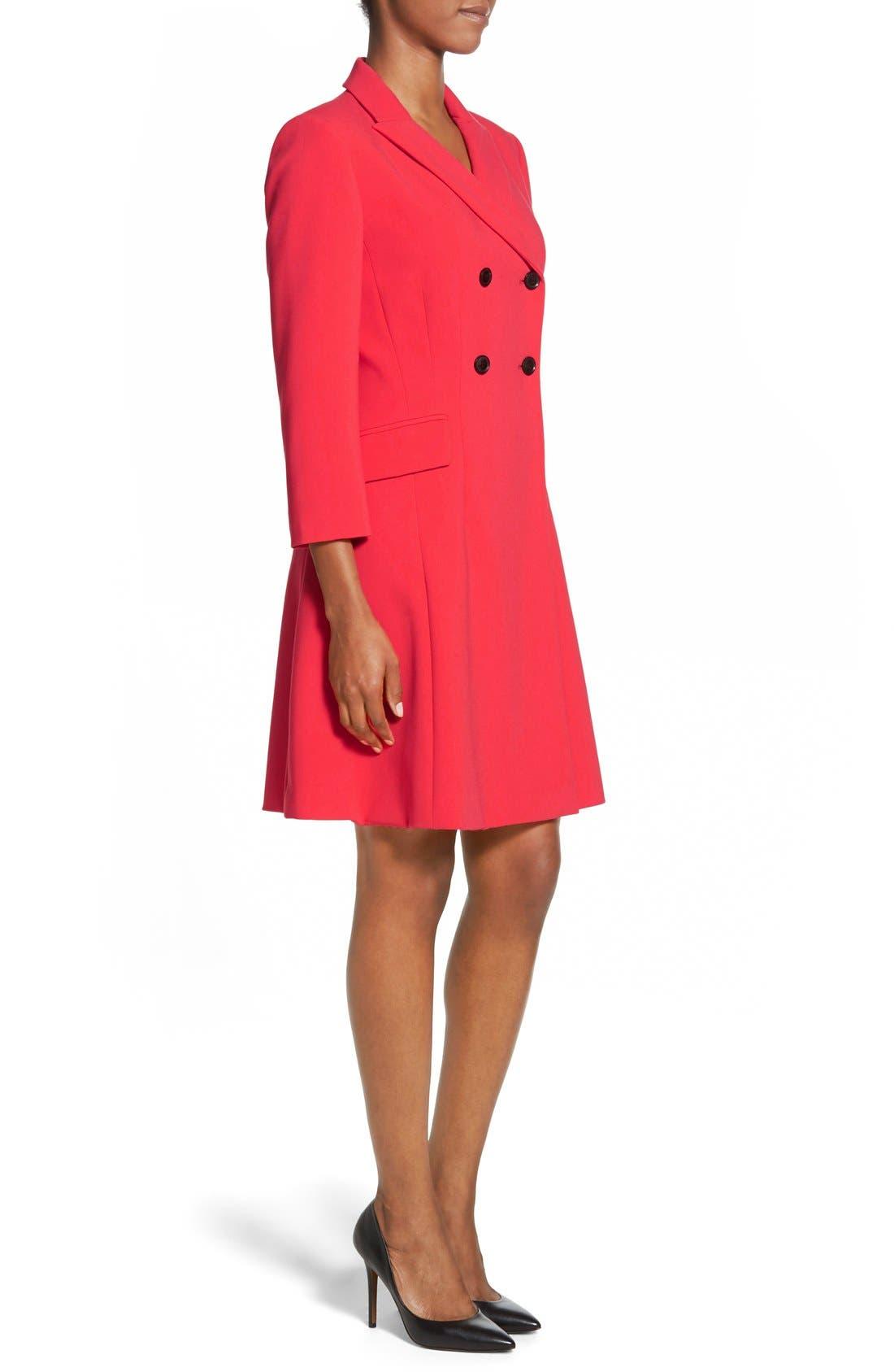 Alternate Image 3  - Ellen Tracy Double Weave Coatdress (Regular & Petite)