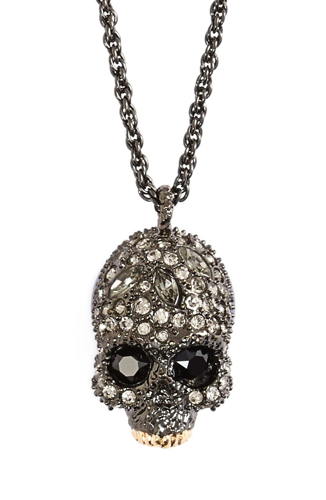 Alternate Image 1 Selected - Alexis Bittar 'Skull' Pendant Necklace