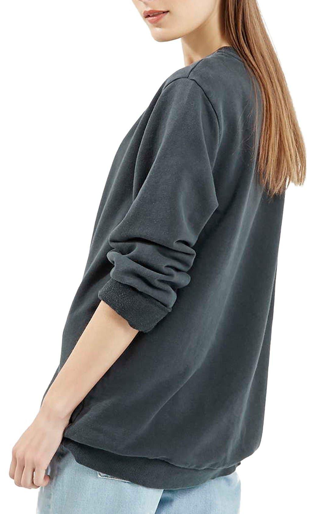 Alternate Image 3  - Topshop Washed '90s Sweatshirt